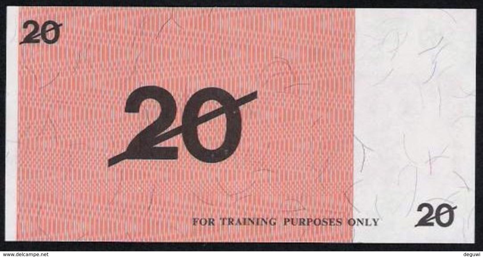"""Test Note """"BANK OF AUSTRALIA"""" 20 Units, Testnote, RRRR, UNC, Special Paper - Australie"""