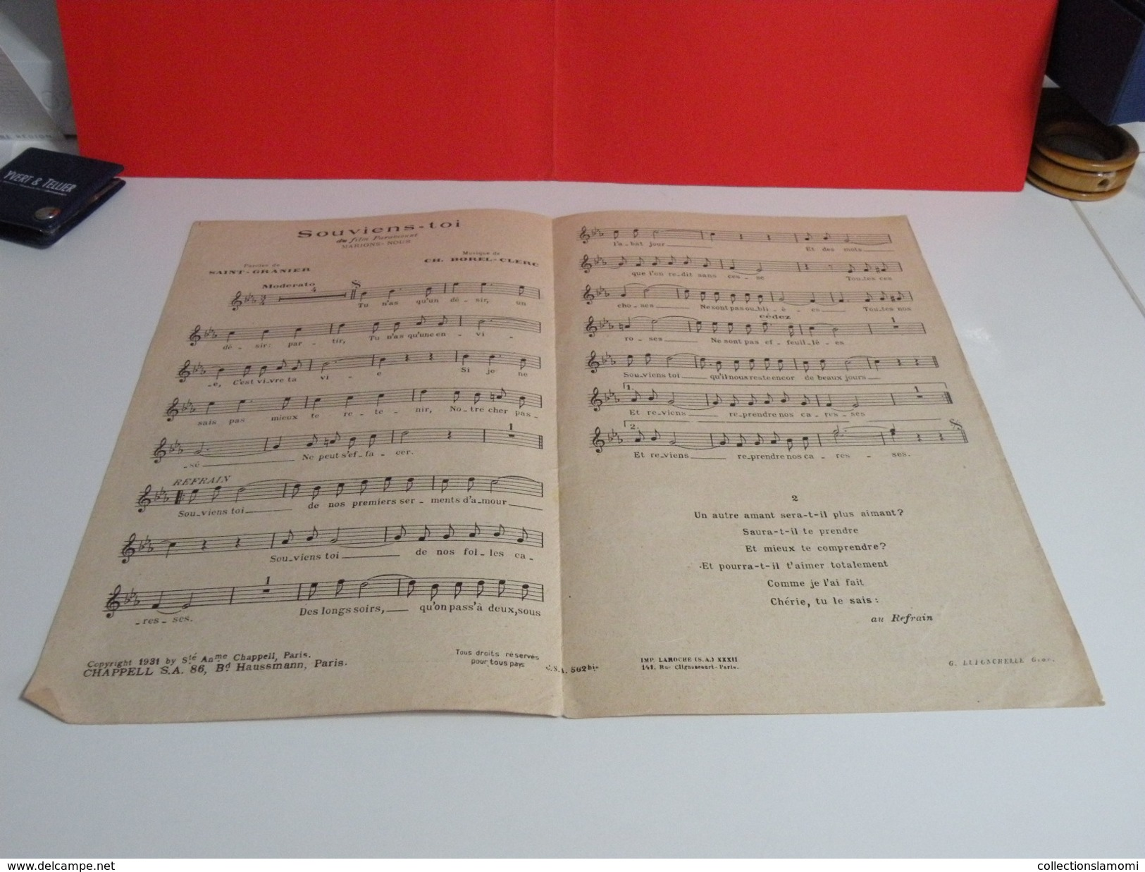 Alice Cocéa & R. Burnier > Souviens Toi - Paroles + Musique- édit - Musique & Instruments