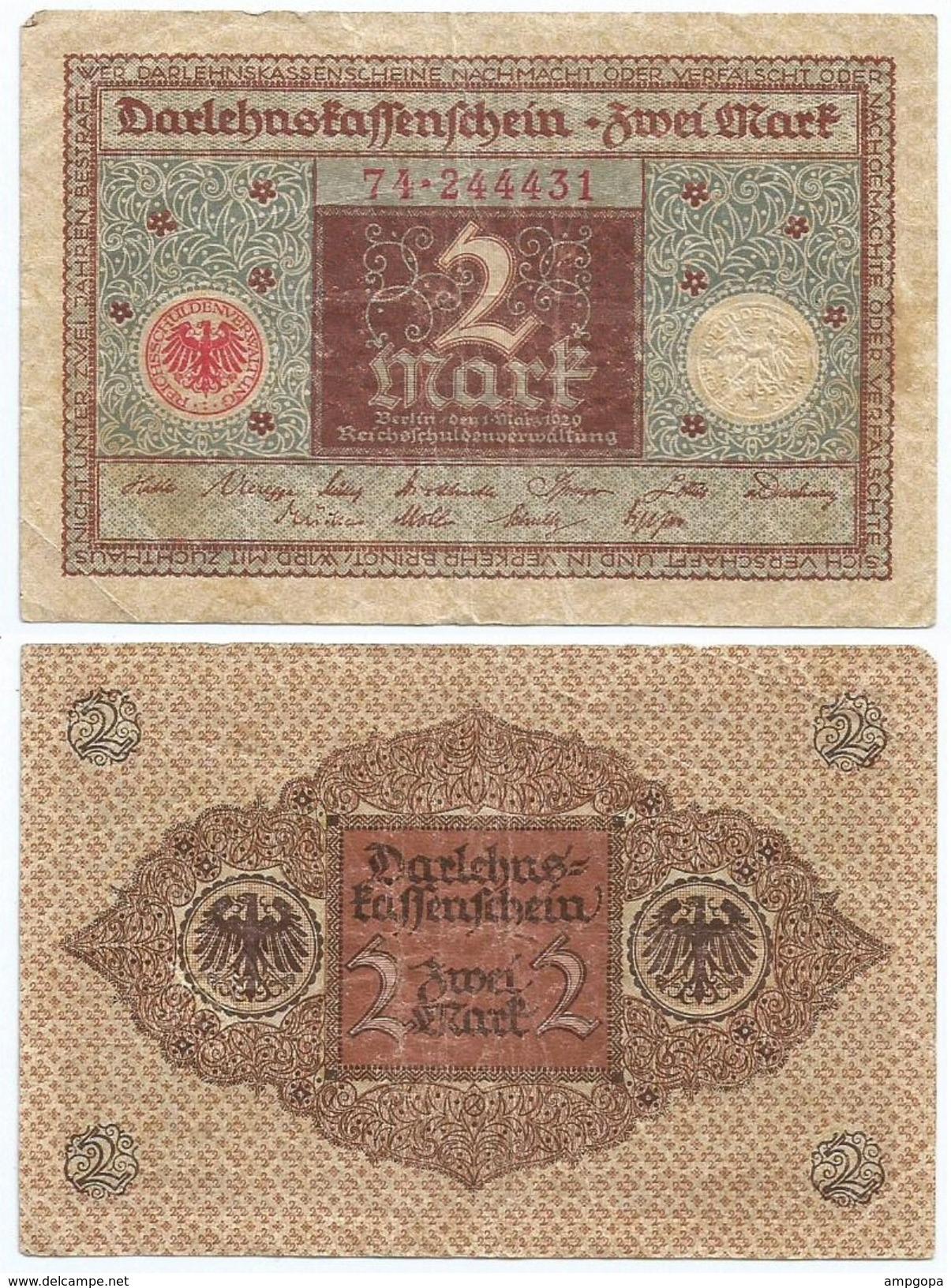Alemania - Germany 2 Mark 1920 Pick 60 Ref 45-2 - [ 3] 1918-1933 : República De Weimar