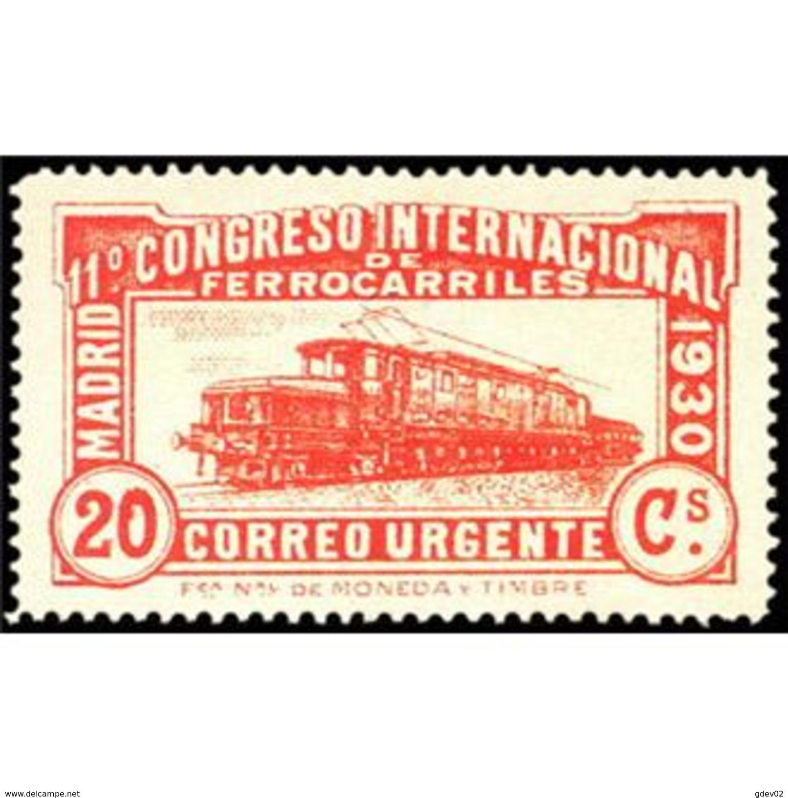 ES482STV-LFT***482STAN.Spain.Esgane.AVION,Congreso Internacional De FERROCARRILES.1930 (Ed 482**) - Nuevos