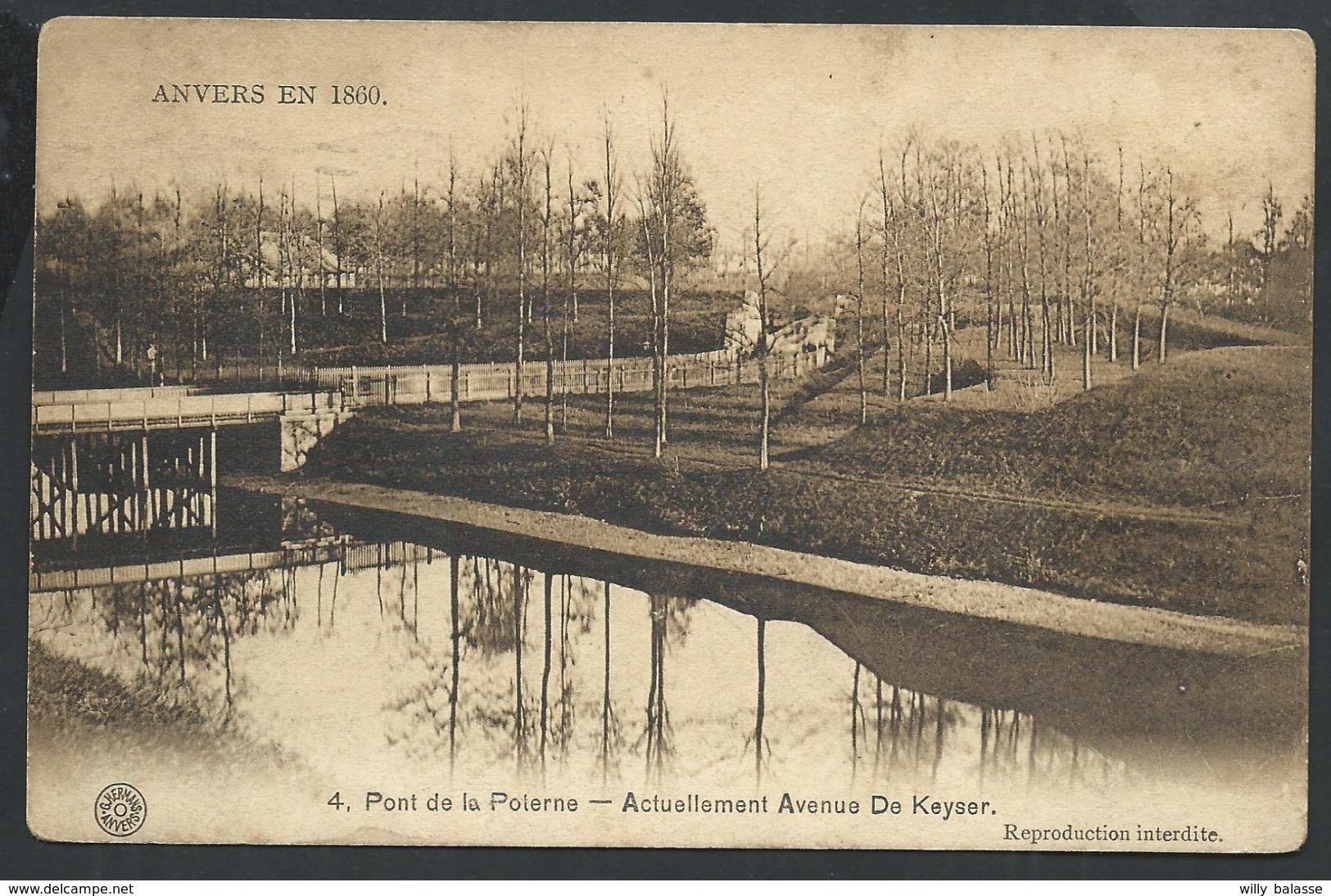 +++ CPA - ANVERS EN 1860 - ANTWERPEN - Pont De La Poterne - Actuellement Avenue De Keyser  // - Antwerpen