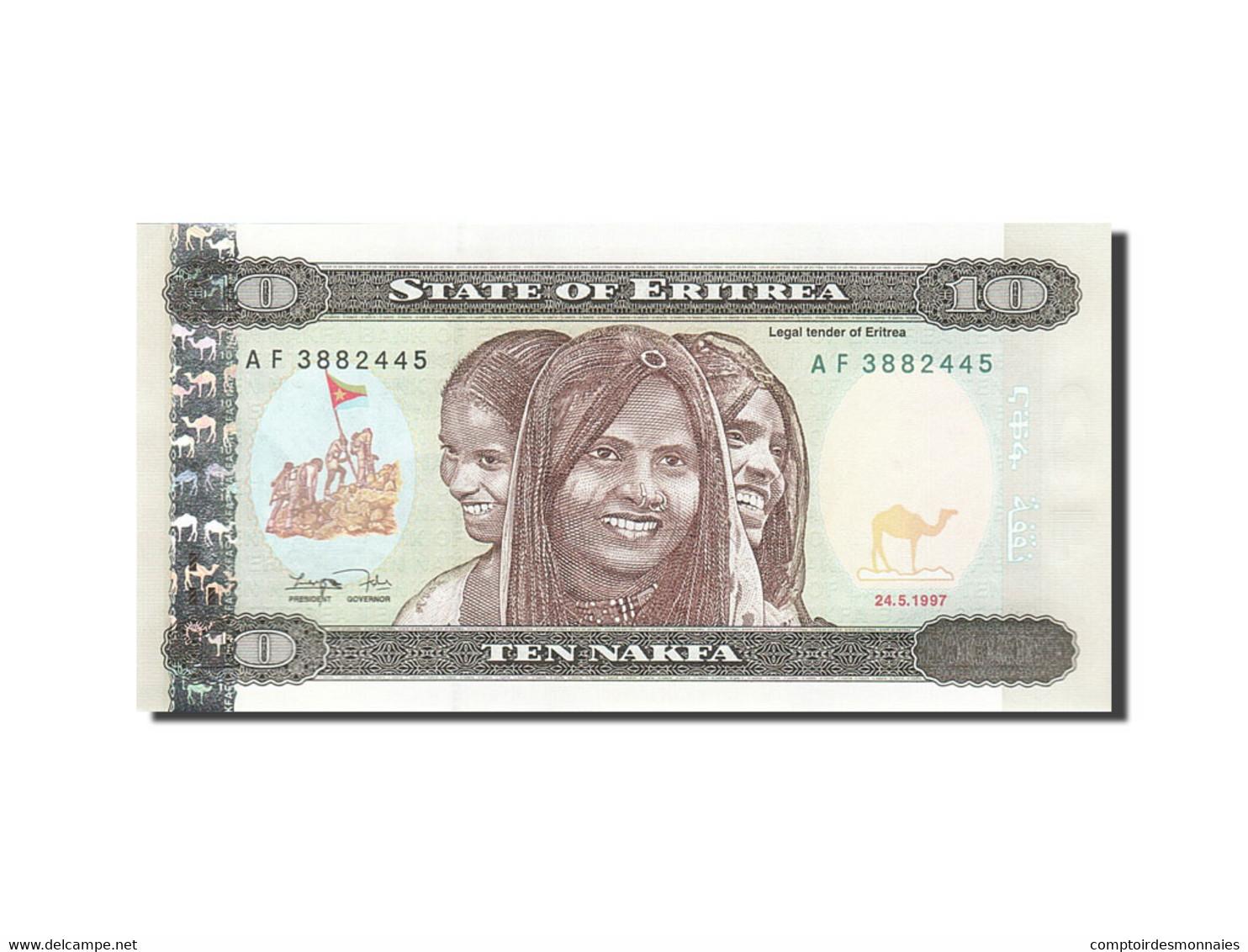 Eritrea, 10 Nakfa, 1997, KM:3, 1997-05-24, NEUF - Erythrée