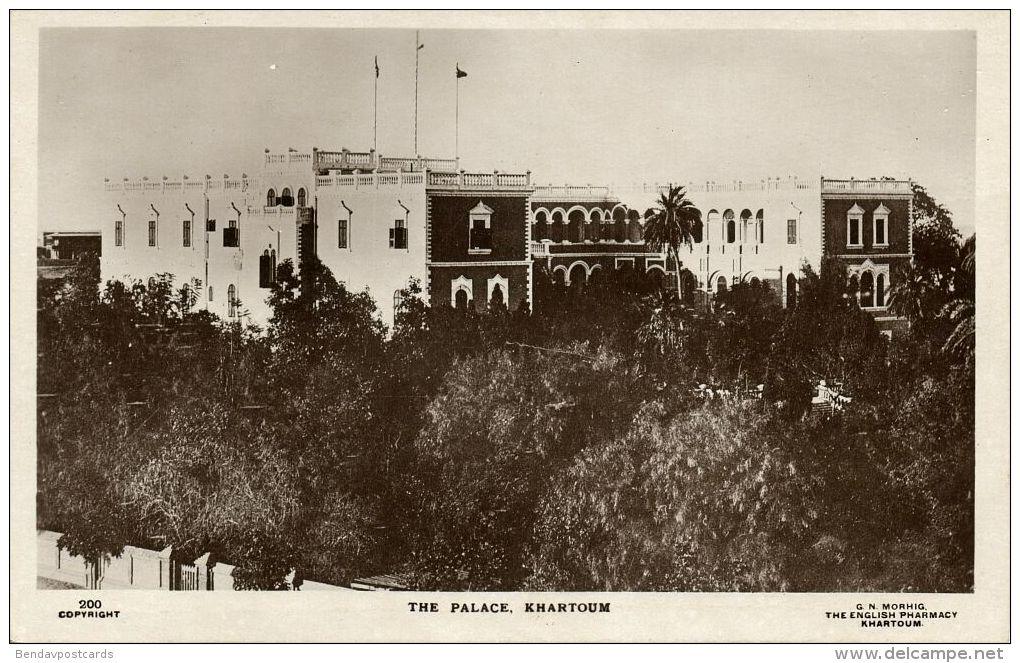 Sudan, KHARTOUM, The Palace (1930s) RPPC - Sudan