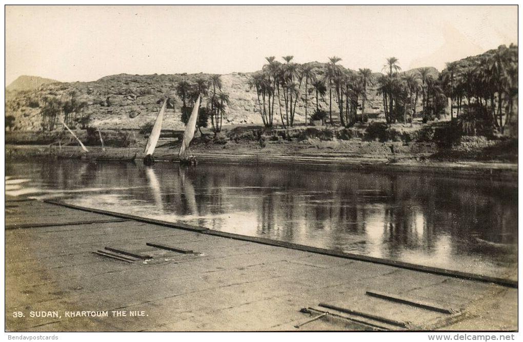 Sudan, KHARTOUM, River Nile Scene (1930s) RPPC - Sudan