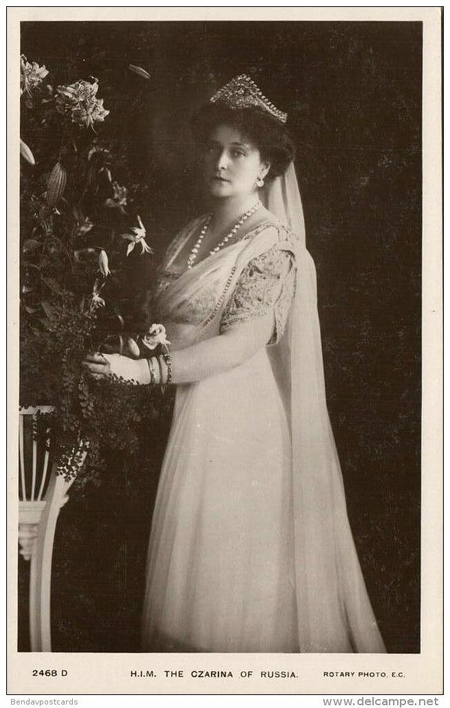 Russia, Empress Czarina Alexandra Fyodorovna (1910s) RPPC - Royal Families