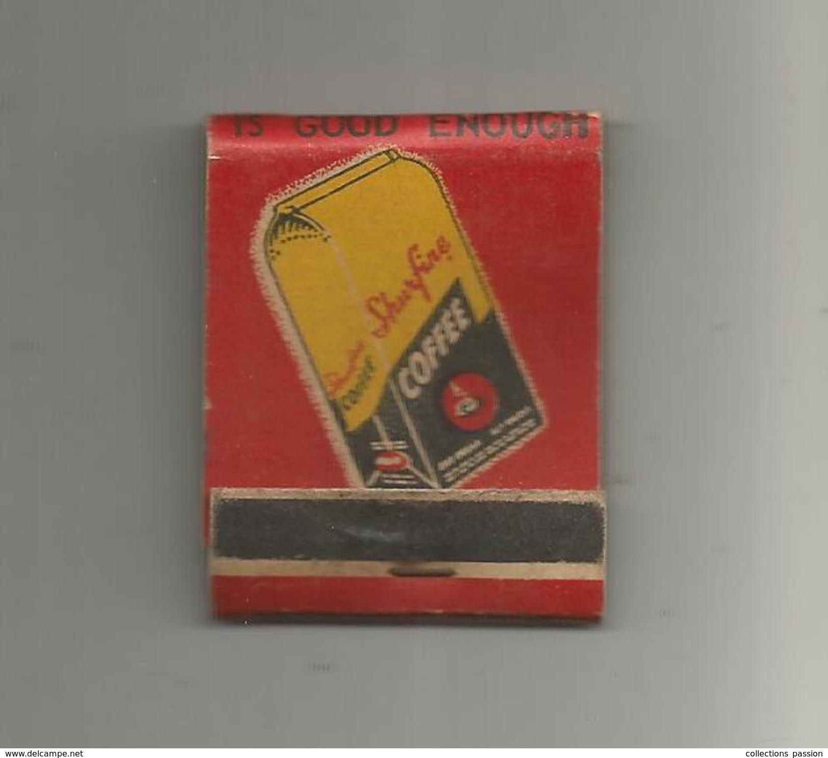 G-I-E , Tabac , Boites , Pochette D'ALLUMETTES , 2 Scans ,  Publicité  , SHURFINE , Coffee , Café , Fruits And Vegetable - Matchbox Labels