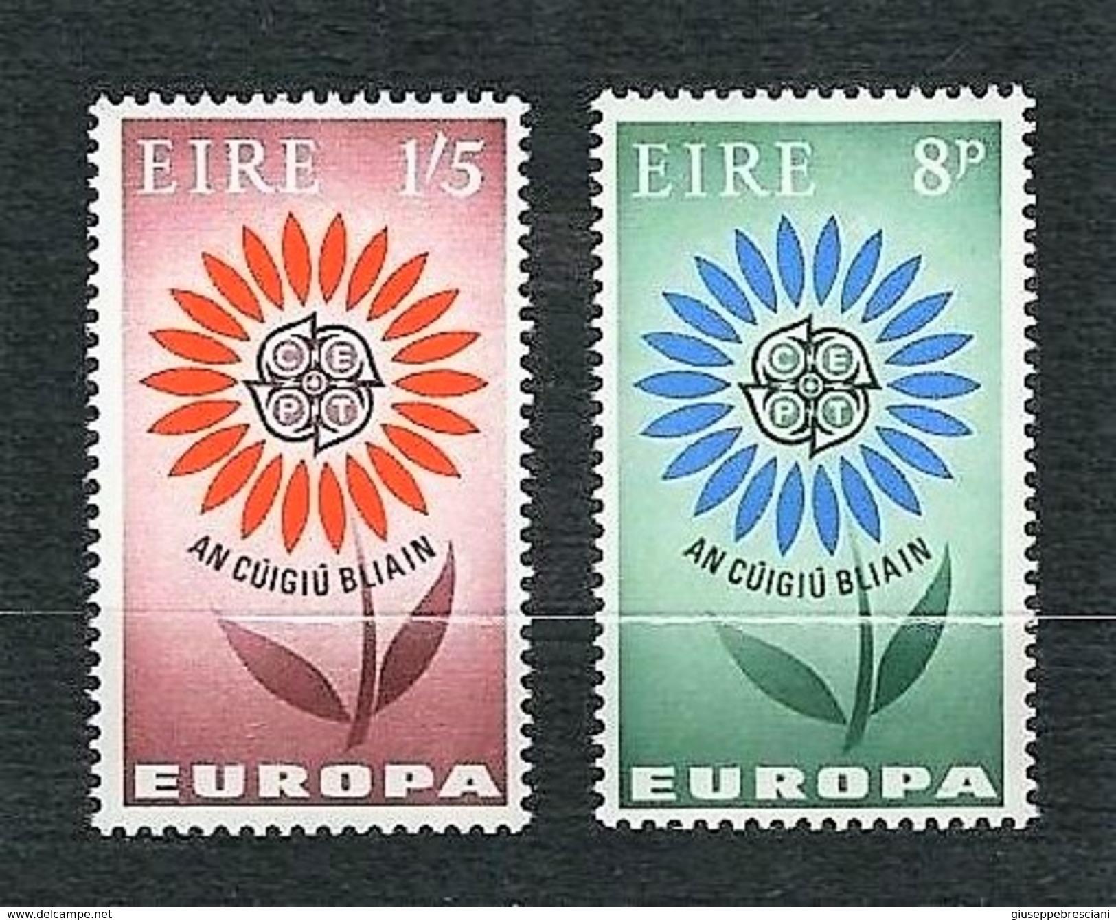 EIRE 1964 - Europa, Sylesed Flowert - MNH - Yv:IE 167-68 - 1949-... Repubblica D'Irlanda