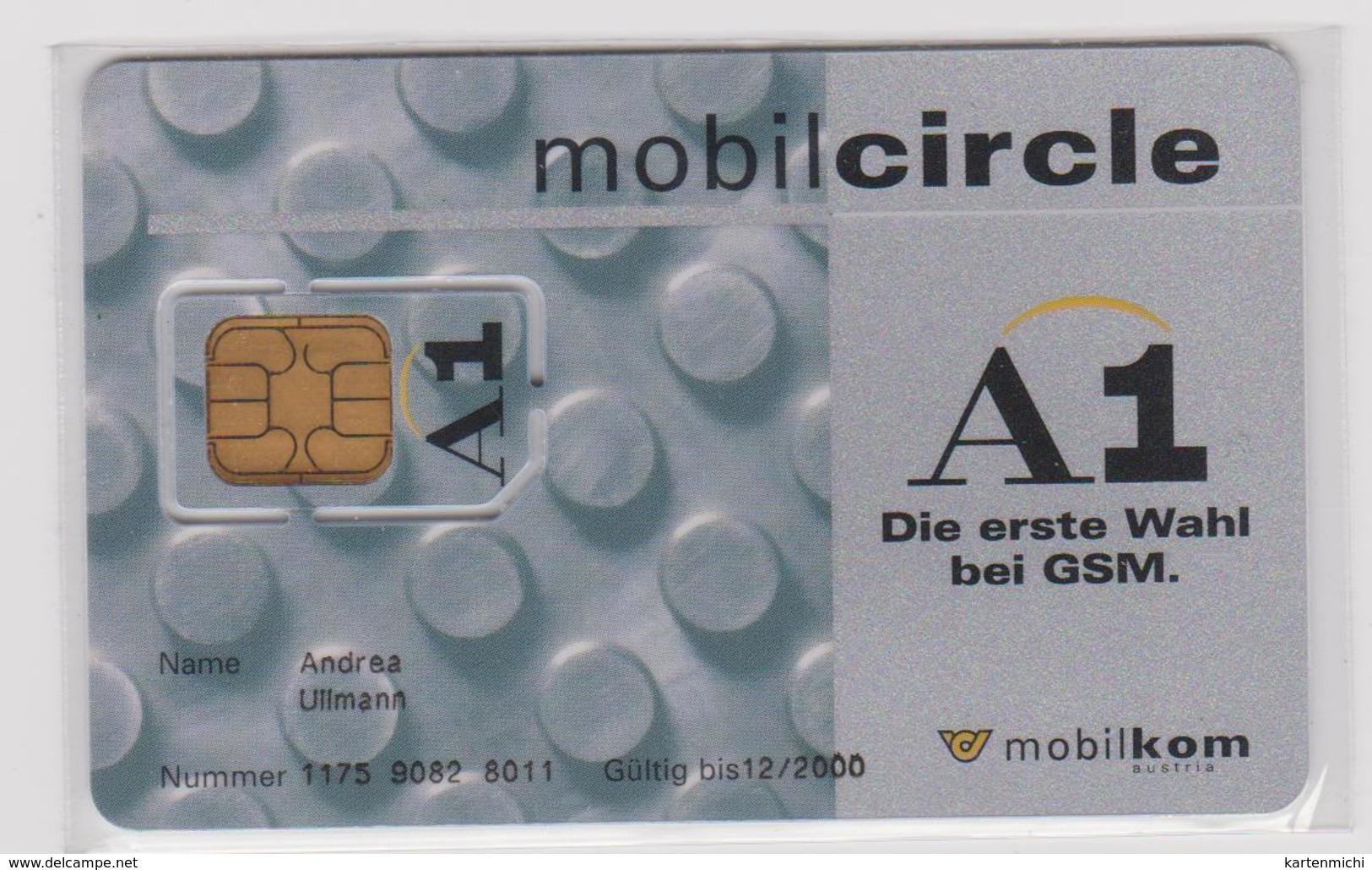ÖSTERREICH GSM  1998  MOBILCIRCLE   CHIP NOT REPLACED !! - Oesterreich