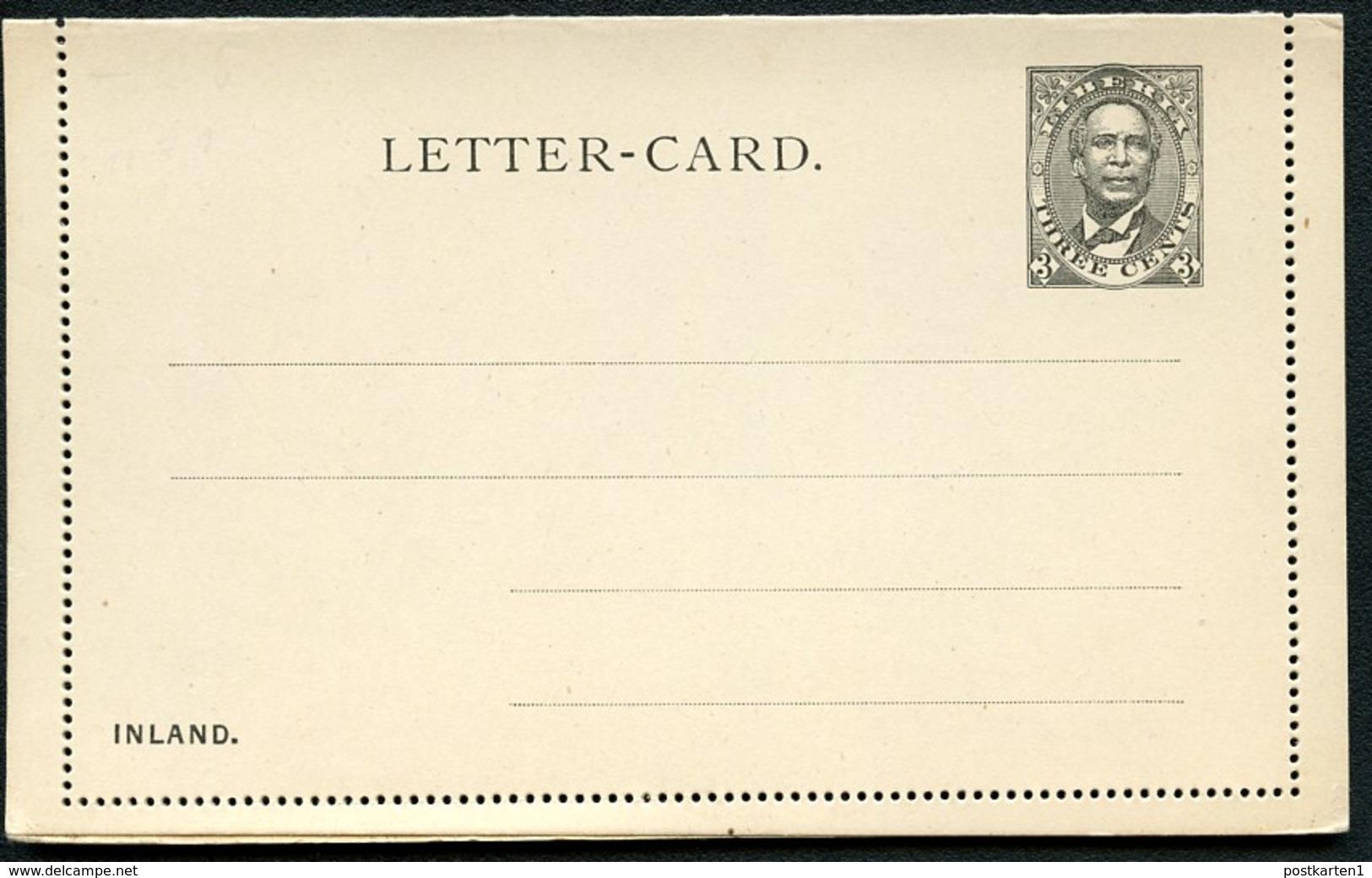 LIBERIA Letter Card #A1 Mint 1892 - Liberia