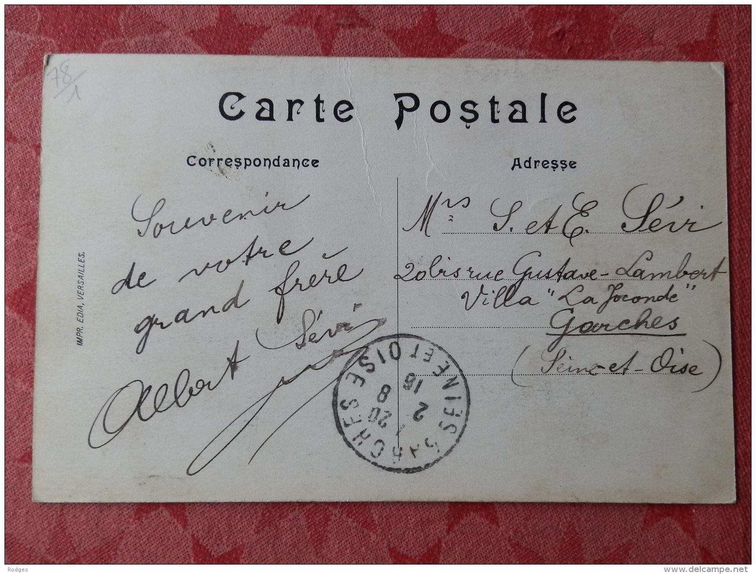 Dep 78 , Cpa  VERSAILLES  , 357 , La Gare Rive Gauche Et L'Avenue Thiers (019) - Versailles