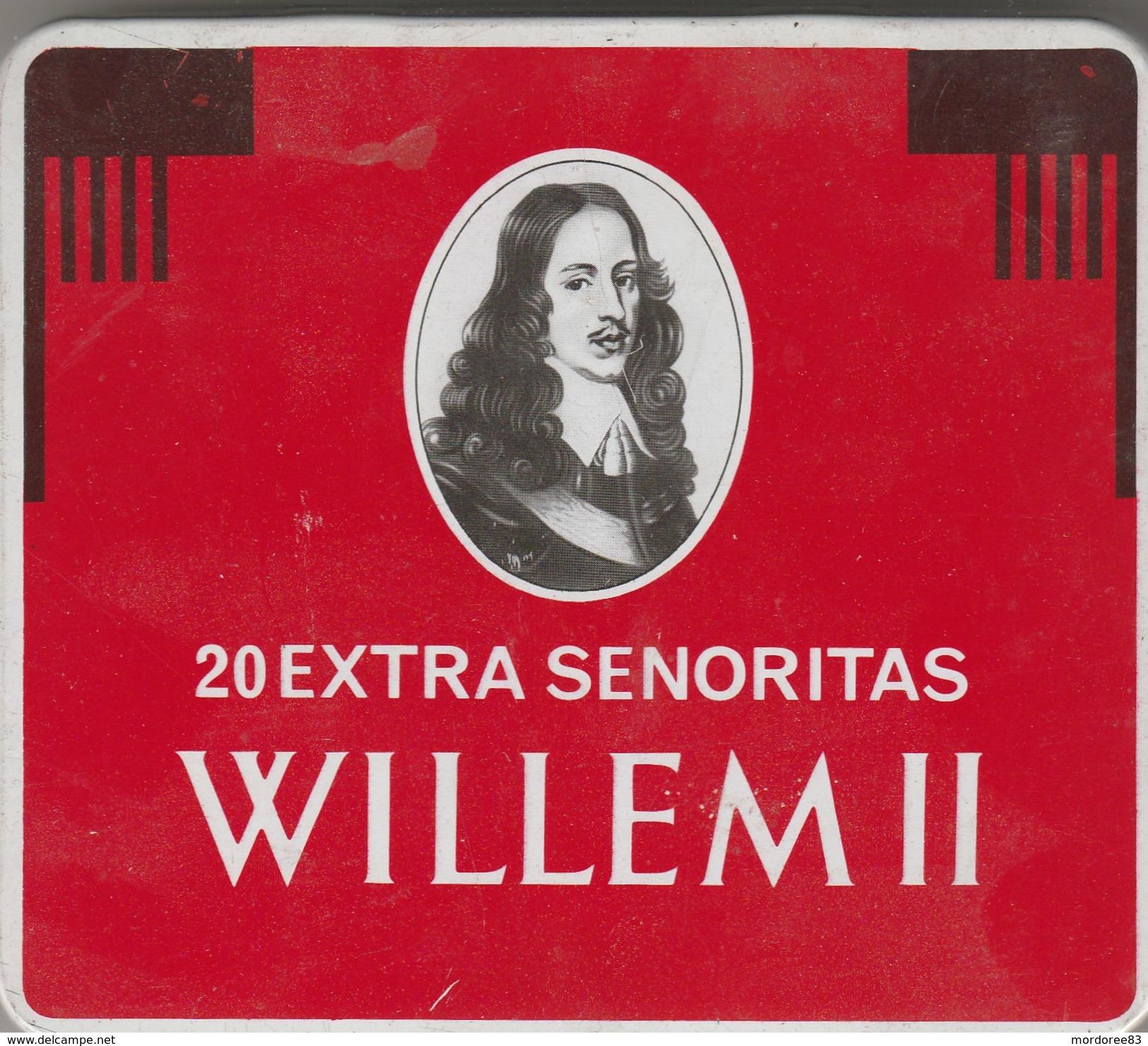 BOITE EN FER 20 EXTRA SENORITAS WILLEM II - Contenitore Di Sigari