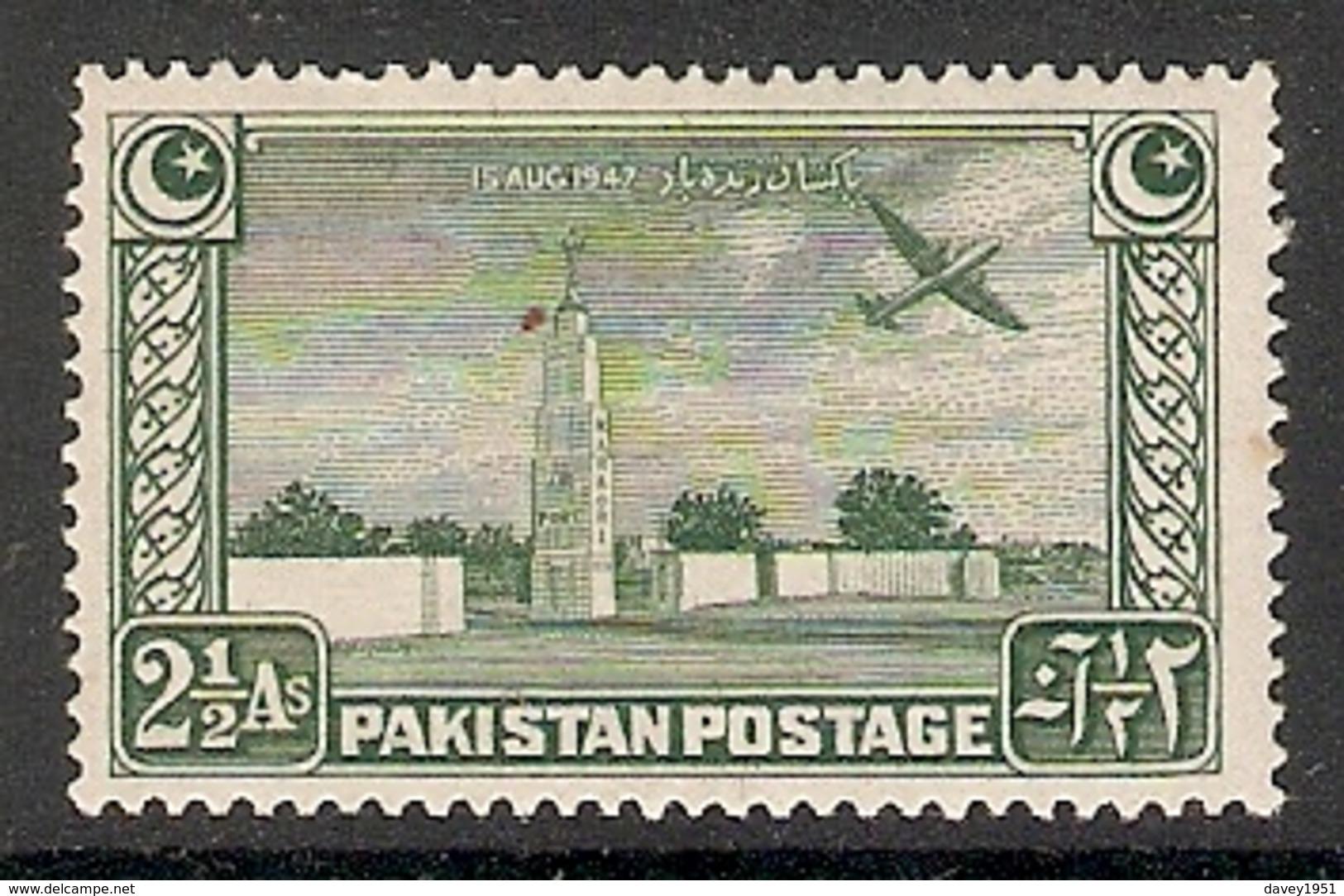 002403 Pakistan 1948 2 1/2 Annas MNH - Pakistan