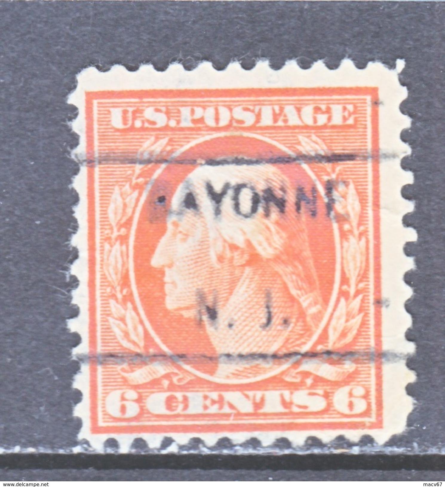 U.S. 506  (o)  N.J. STATE.  FLAT PRESS  NO Wmk. Perf 11  1917-19 Issue - Precancels