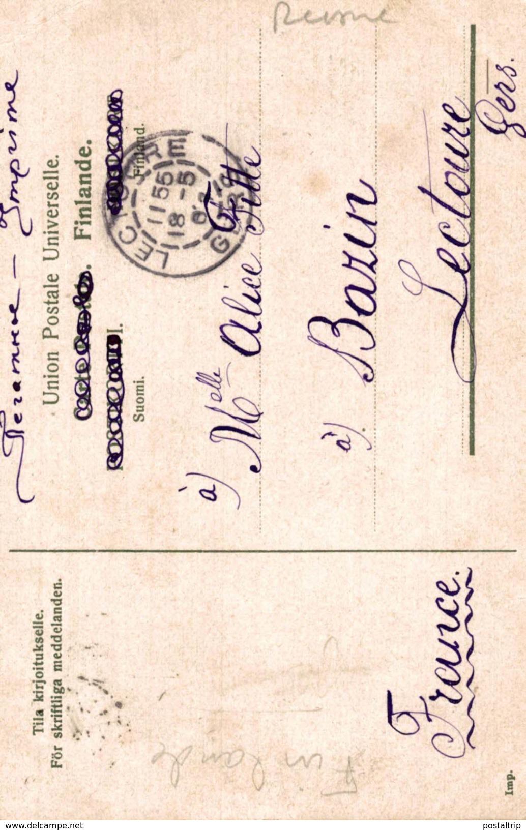 LAPINMAA LAPPLAND 1907  TILA KIRJOITUKSELLE FOR SKRIFTLIGA MEDDELANDEN - Finlandia