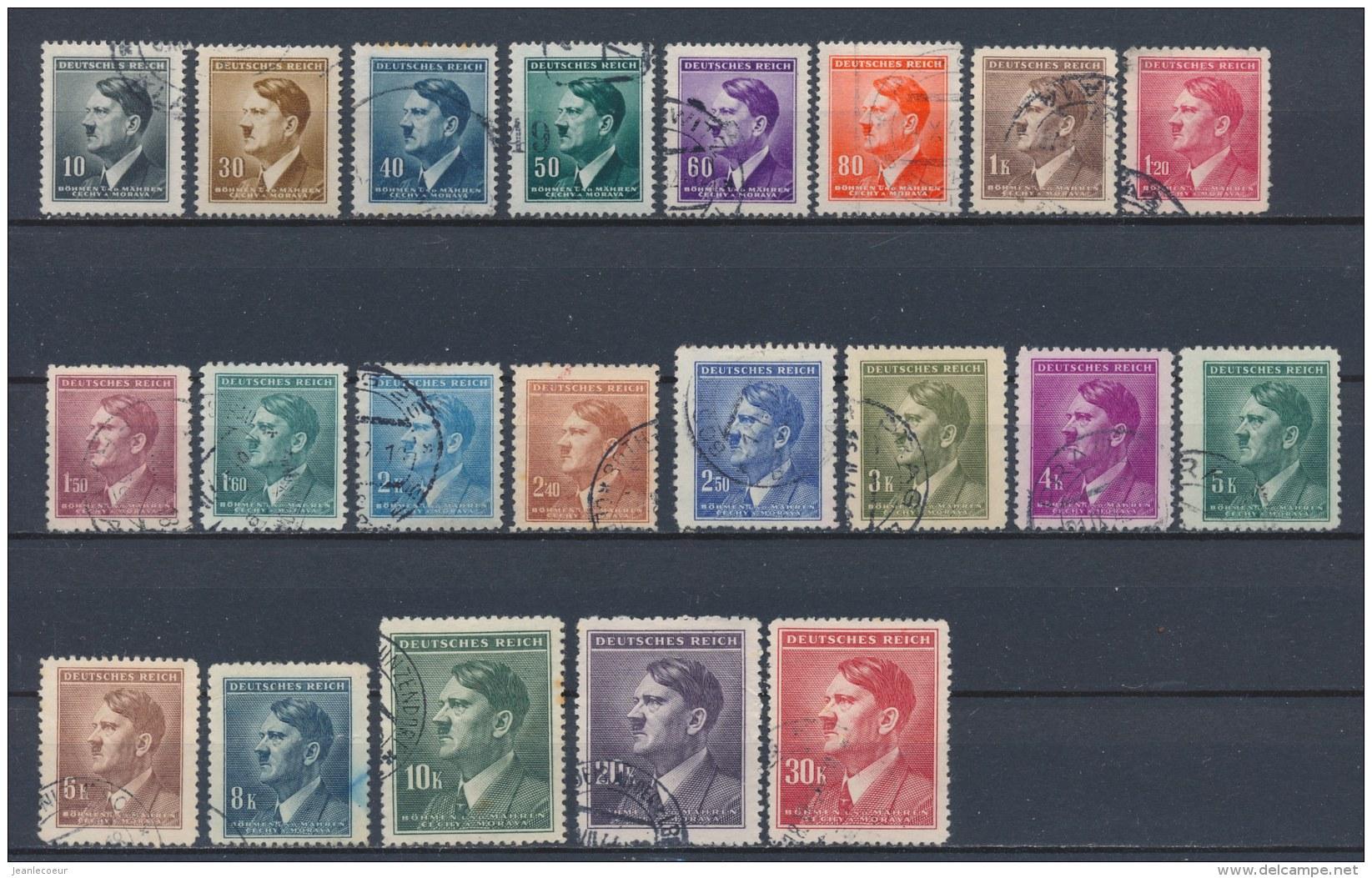 Böhmen Und Mähren/Bohemian & Moravia/Boheme & Moravie 1942 Mi: 89-109 Yt:  (Gebr/used/obl/o)(2029) - Bohemia & Moravia