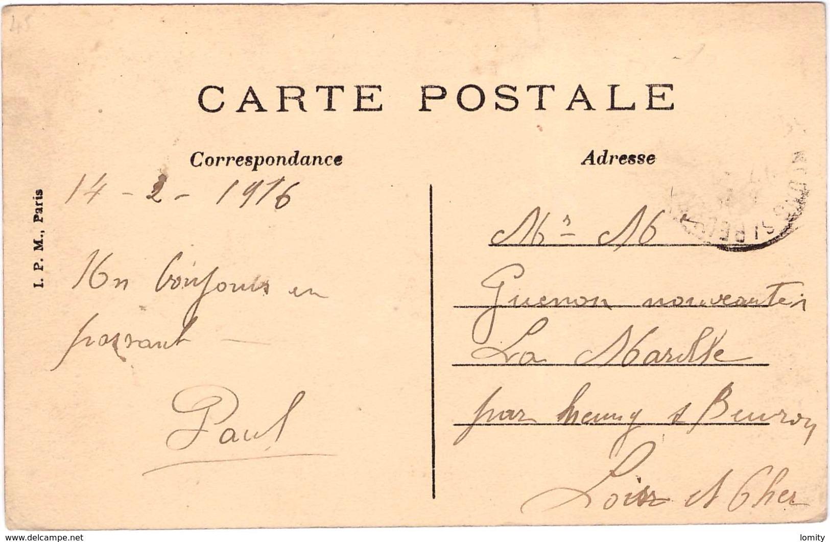 10 Ramerupt Eglise Centre Du Payx Cpa Animée Carte Colorisée 1916 - Autres Communes