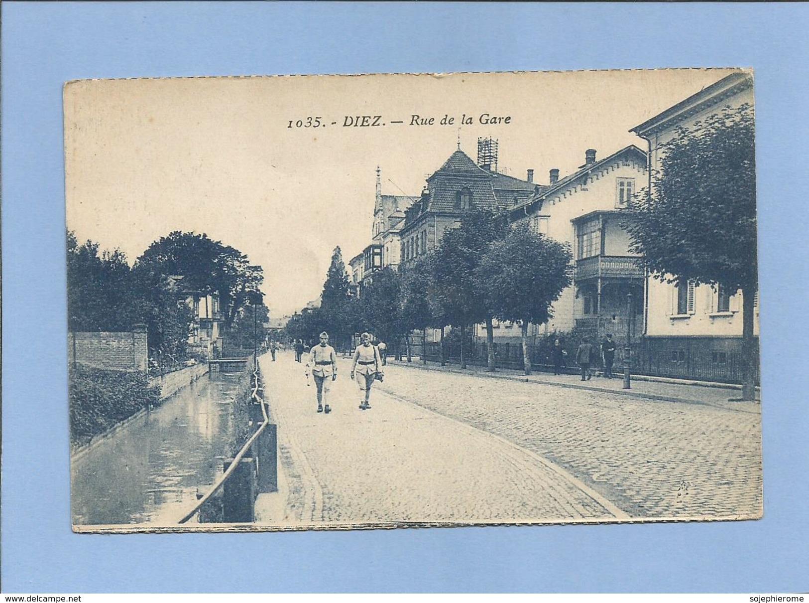 Diez Dietz (Rheinland-Pfalz) Rue De La Gare Bahnhofstrasse 2 Scans 27/12/1924 Militaria - Diez