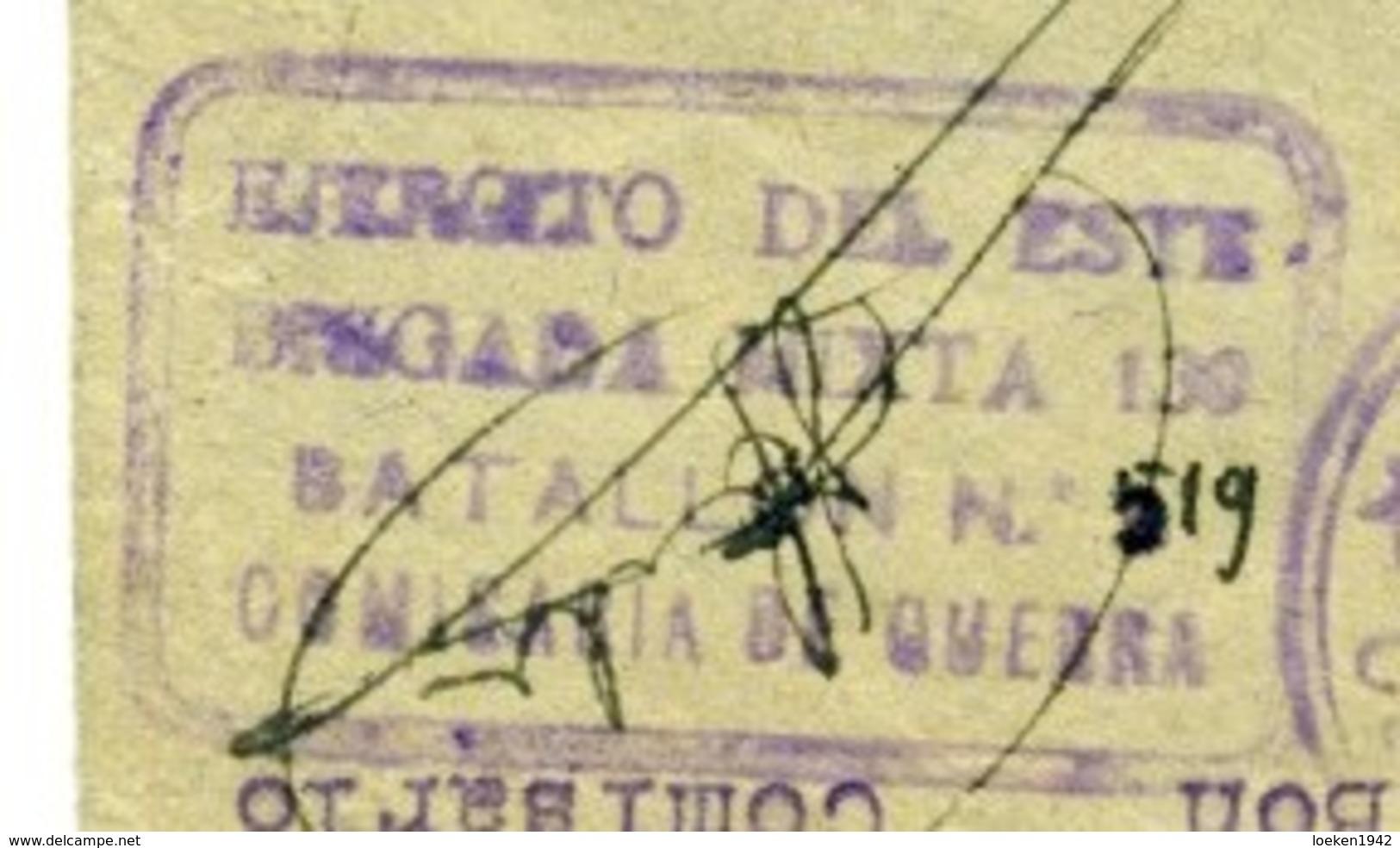 ESPAÑA GUERRA CIVIL 1938-   BRIGADA MIXTA N° 130 BATALLON COMANDANCIA  Hasta PAY Y VIERZON  EL495 - 1931-Aujourd'hui: II. République - ....Juan Carlos I