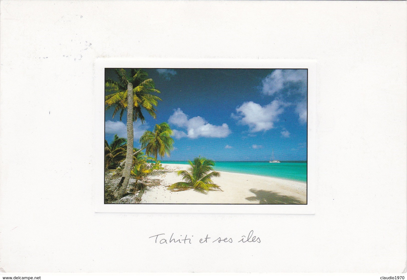 Cartolina - Postcard    - Tahiti Et Ses Iles. - Tahiti