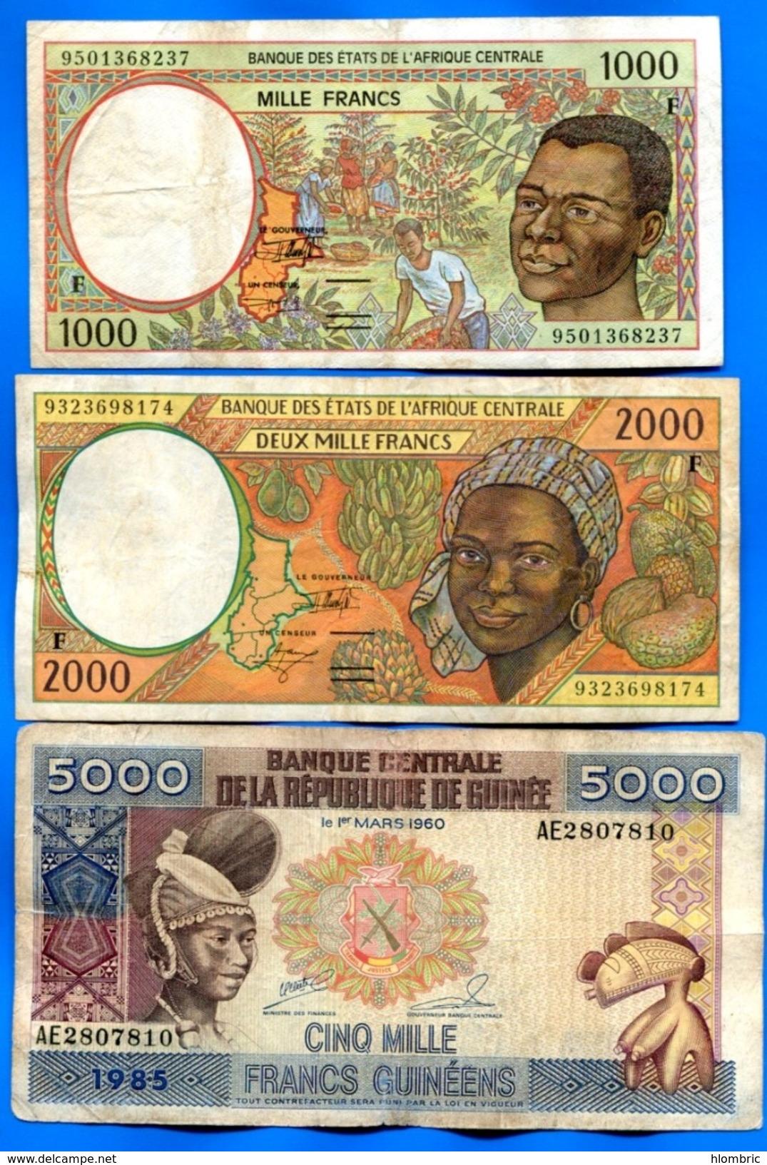 Guinea   équatorial  F  2  Billets  +  1  Hs - Guinée Equatoriale