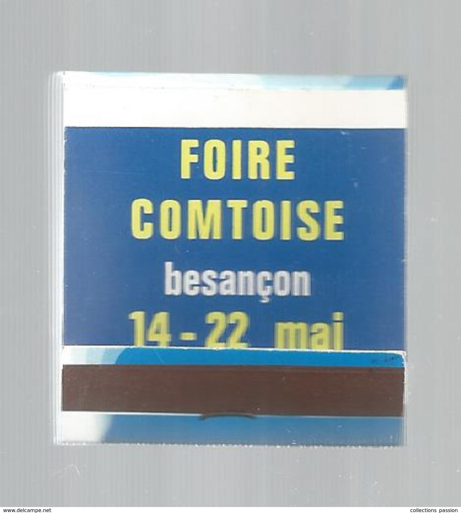 G-I-E, Tabac, Boites, Pochette D'ALLUMETTES,  Publicité, 2 Scans, Foire COMTOISE , BESANCON , Gitanes , Cigarettes - Matchbox Labels