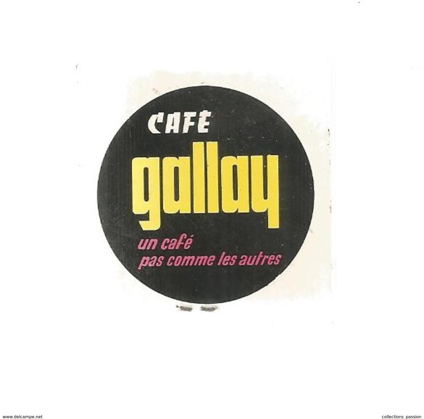 G-I-E, Tabac, Boites, Pochette D'ALLUMETTES,  Publicité, 2 Scans, CAFE GALLAY , étourneau Brillant , N° 4 - Matchbox Labels