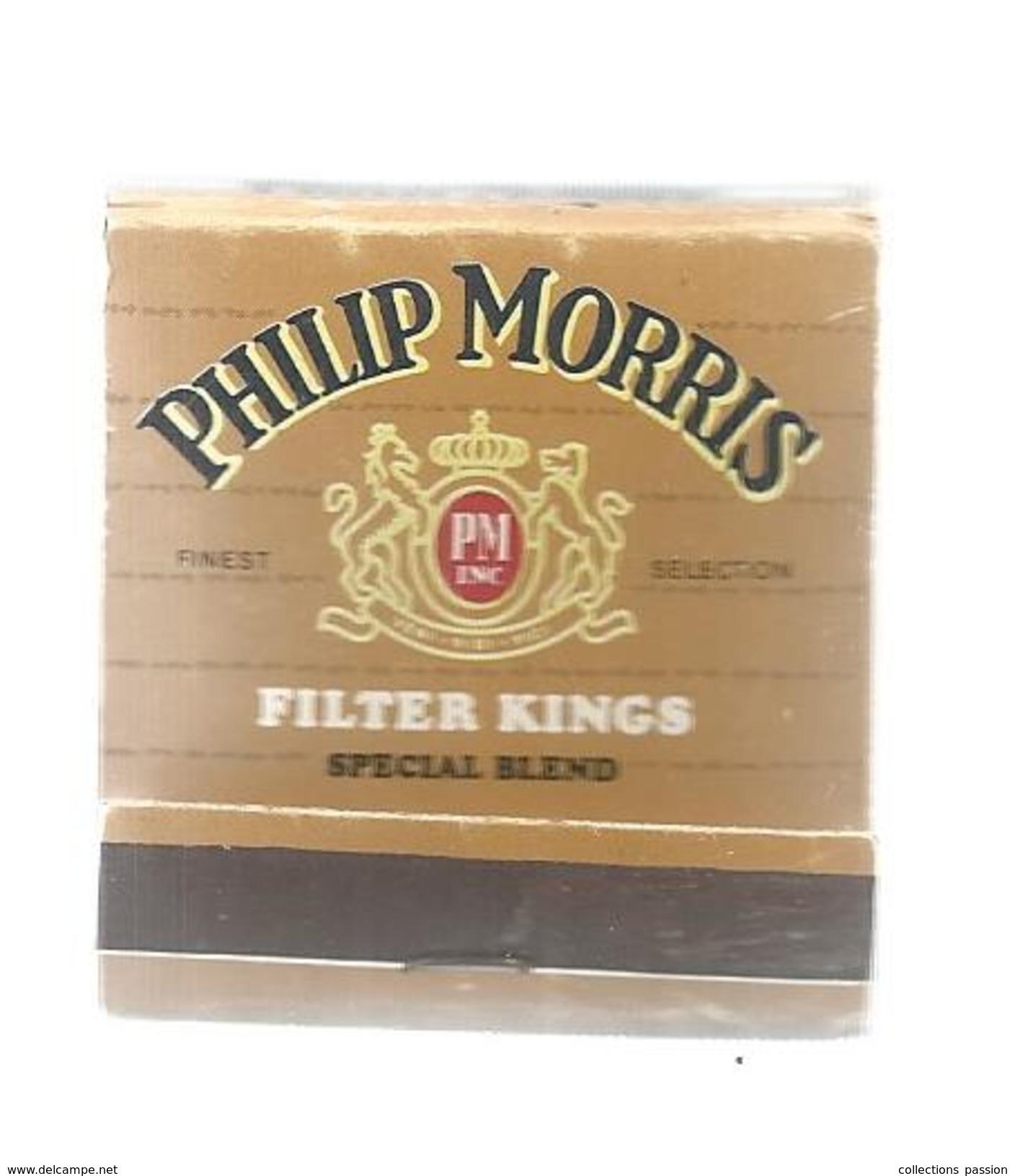 G-I-E, Tabac, Boites, Pochette D'ALLUMETTES,  Publicité, 2 Scans, Cigarettes PHILIP MORRIS - Matchbox Labels