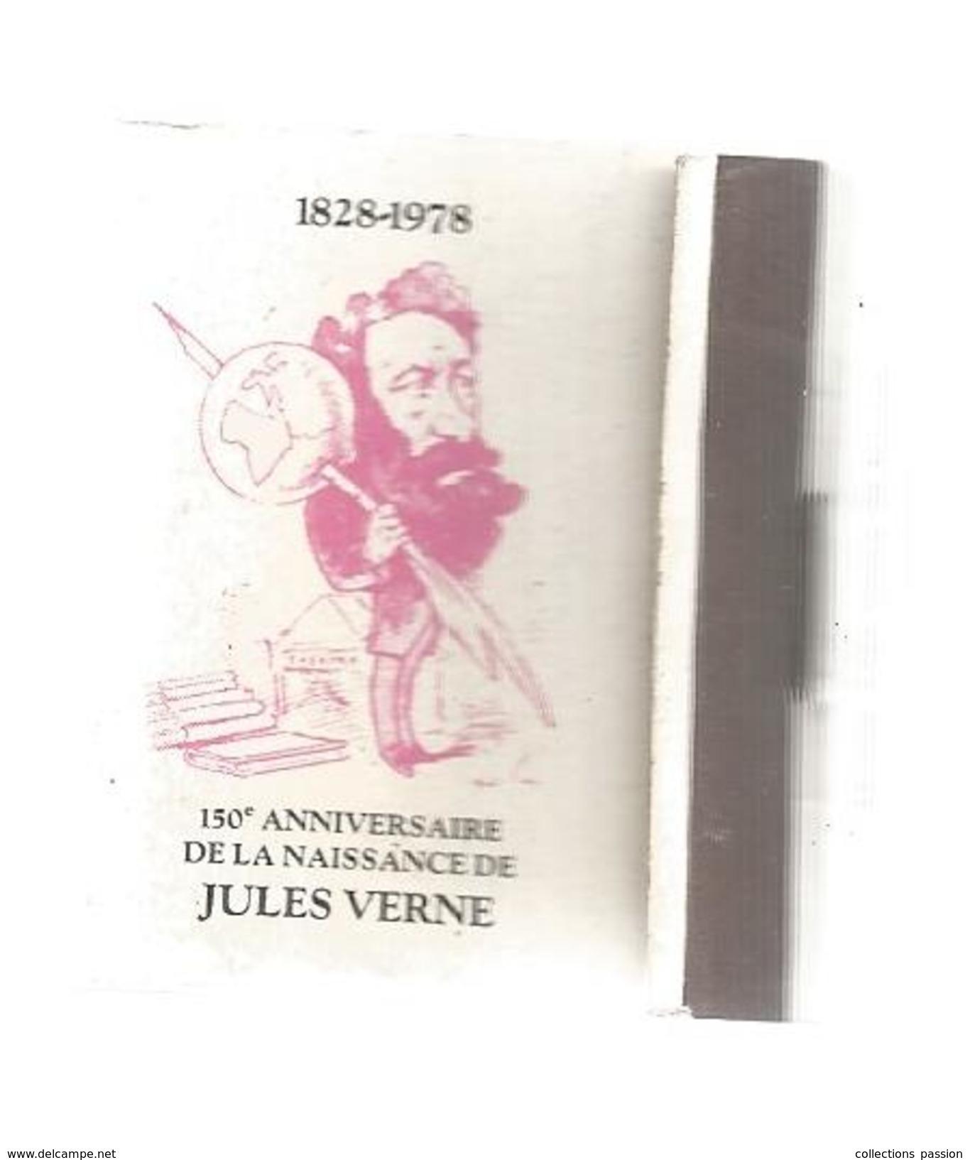 G-I-E, Tabac, Boites, Pochette D'ALLUMETTES,  Publicité, 2 Scans, 1828-1978, Jules VERNE - Matchbox Labels