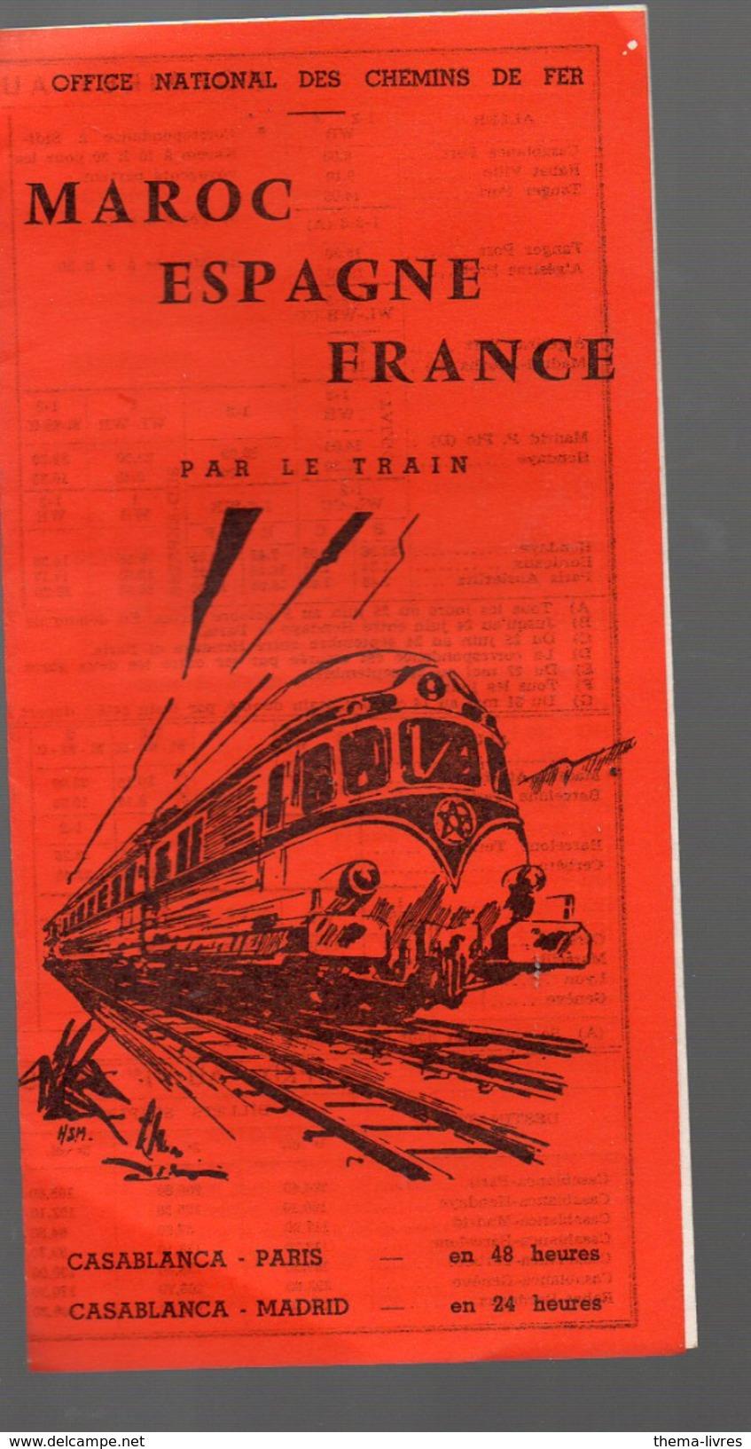 Maros Espagne France Par Ler Train Tarif Et Horaires 1966 (PPP4536) - Monde