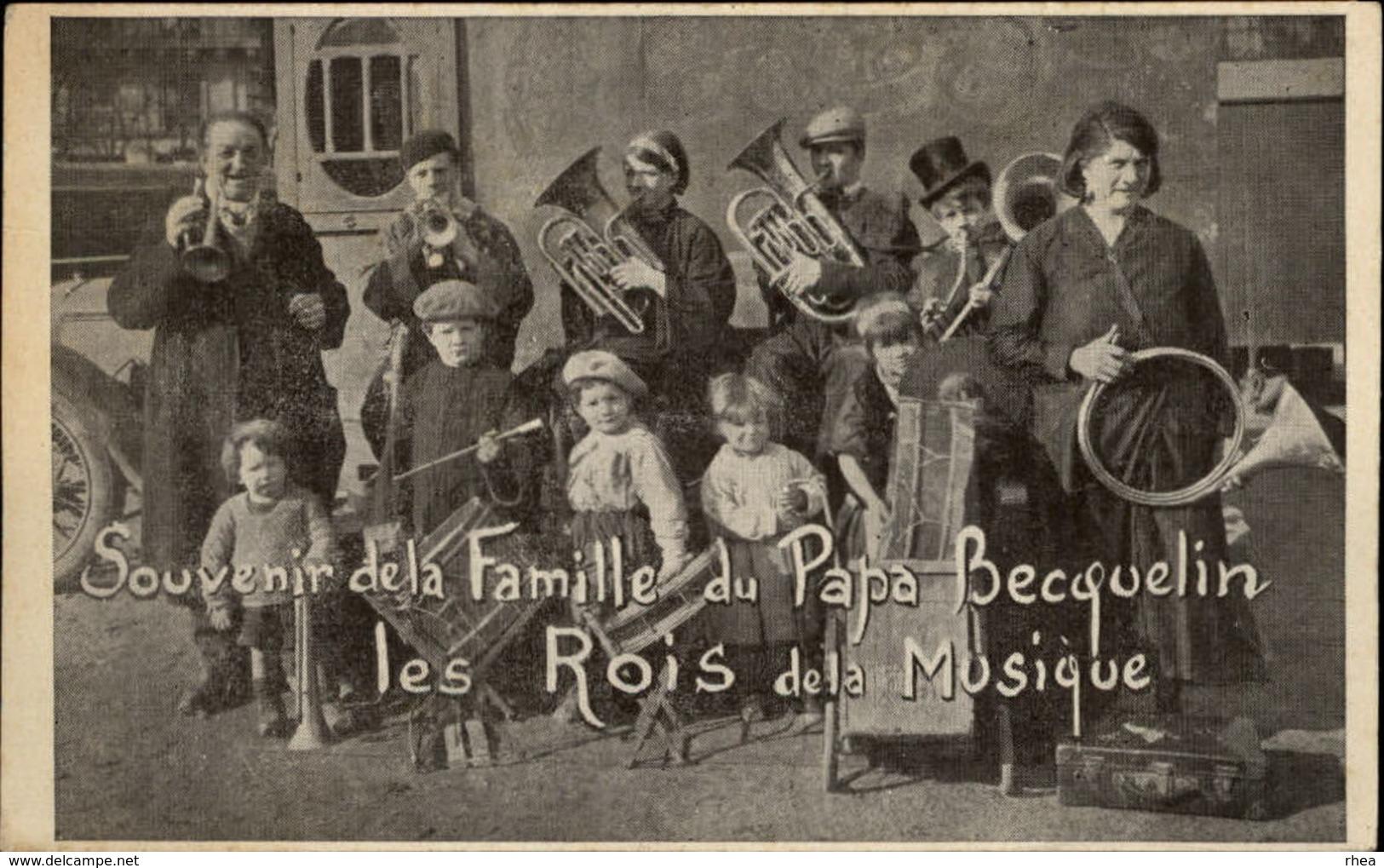 MUSIQUE - INSTRUMENTS DE MUSIQUE - Souvenir De La Famille Du Papa Becquelin, Les Rois De La Musique - Non Classés