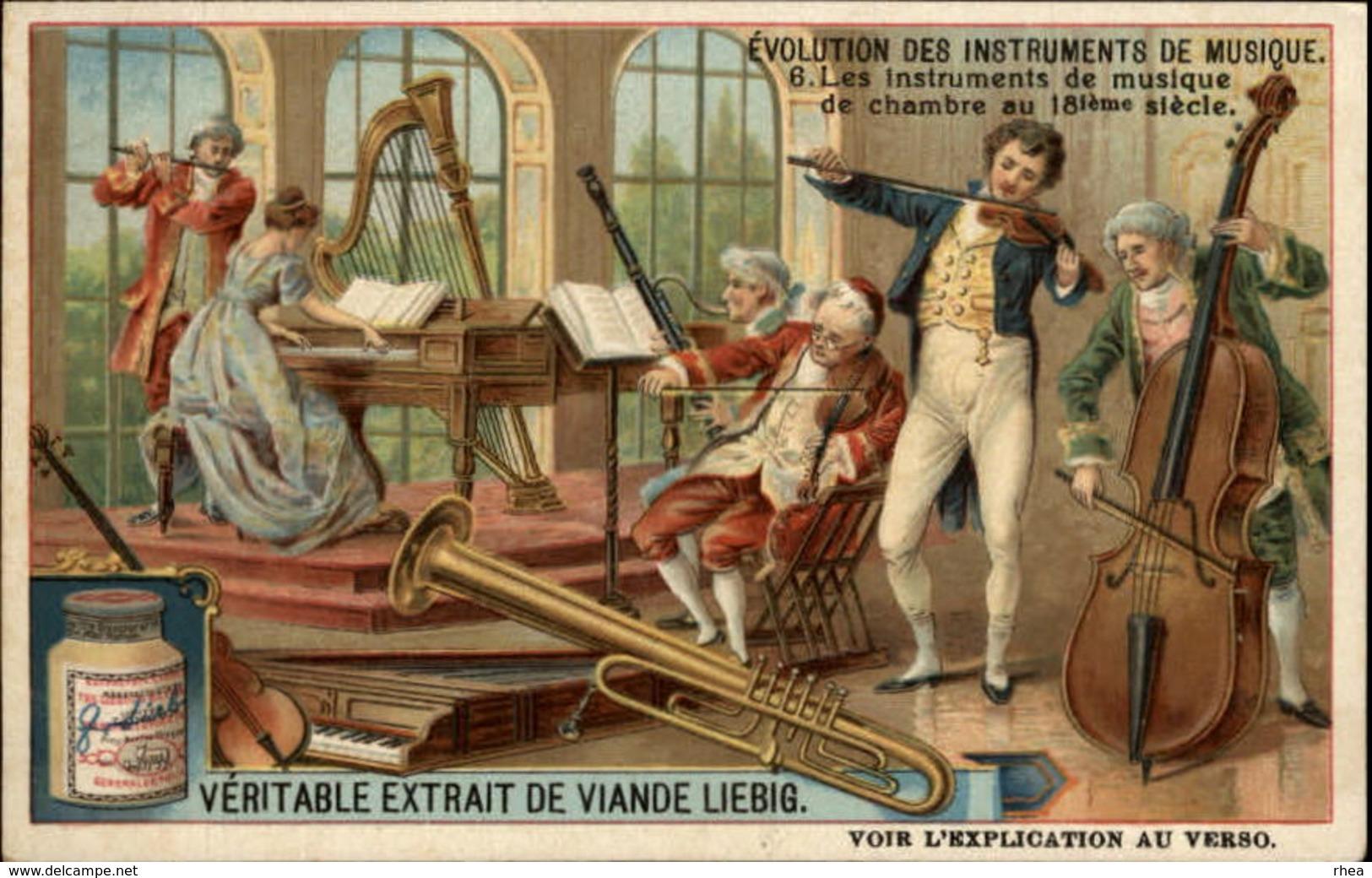 MUSIQUE - INSTRUMENTS DE MUSIQUE - Série De 6 Chromos - évolution Des Instruments De Musique - Liebig