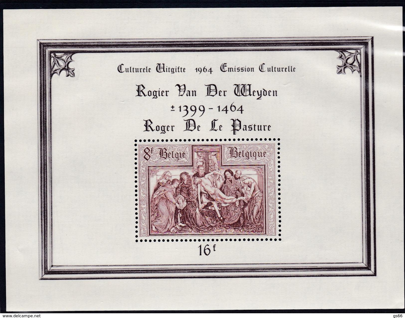 1964, Belgien, 1363 Block 31, 500. Todestag Von Rogier Van Der Weyden. MNH **, - Bloques 1962-....