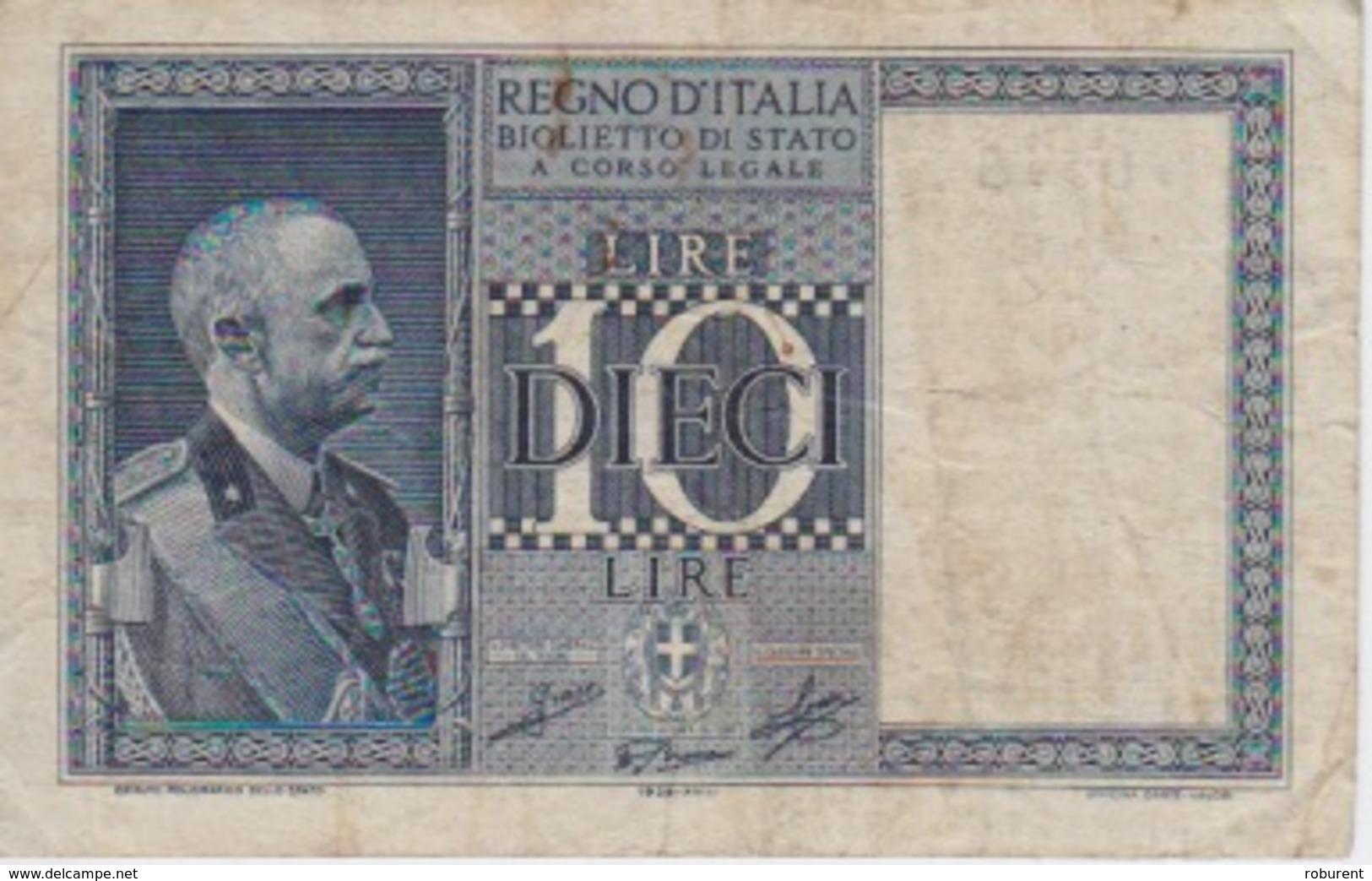 BANCONOTA - REGNO D'ITALIA  - LIRE 10 - 1939 - Altri