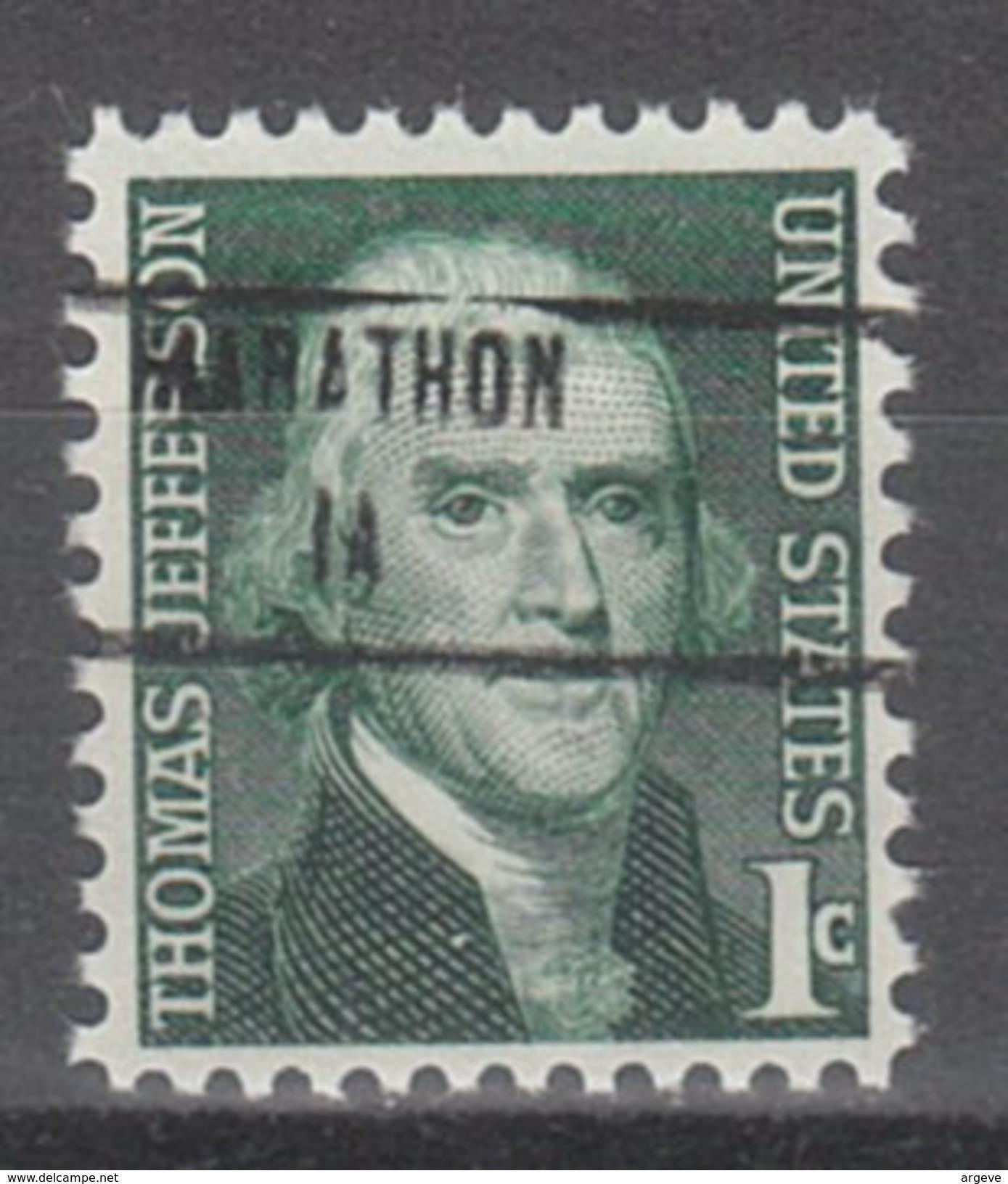 USA Precancel Vorausentwertung Preos Locals Iowa, Marathon 853 - Vereinigte Staaten