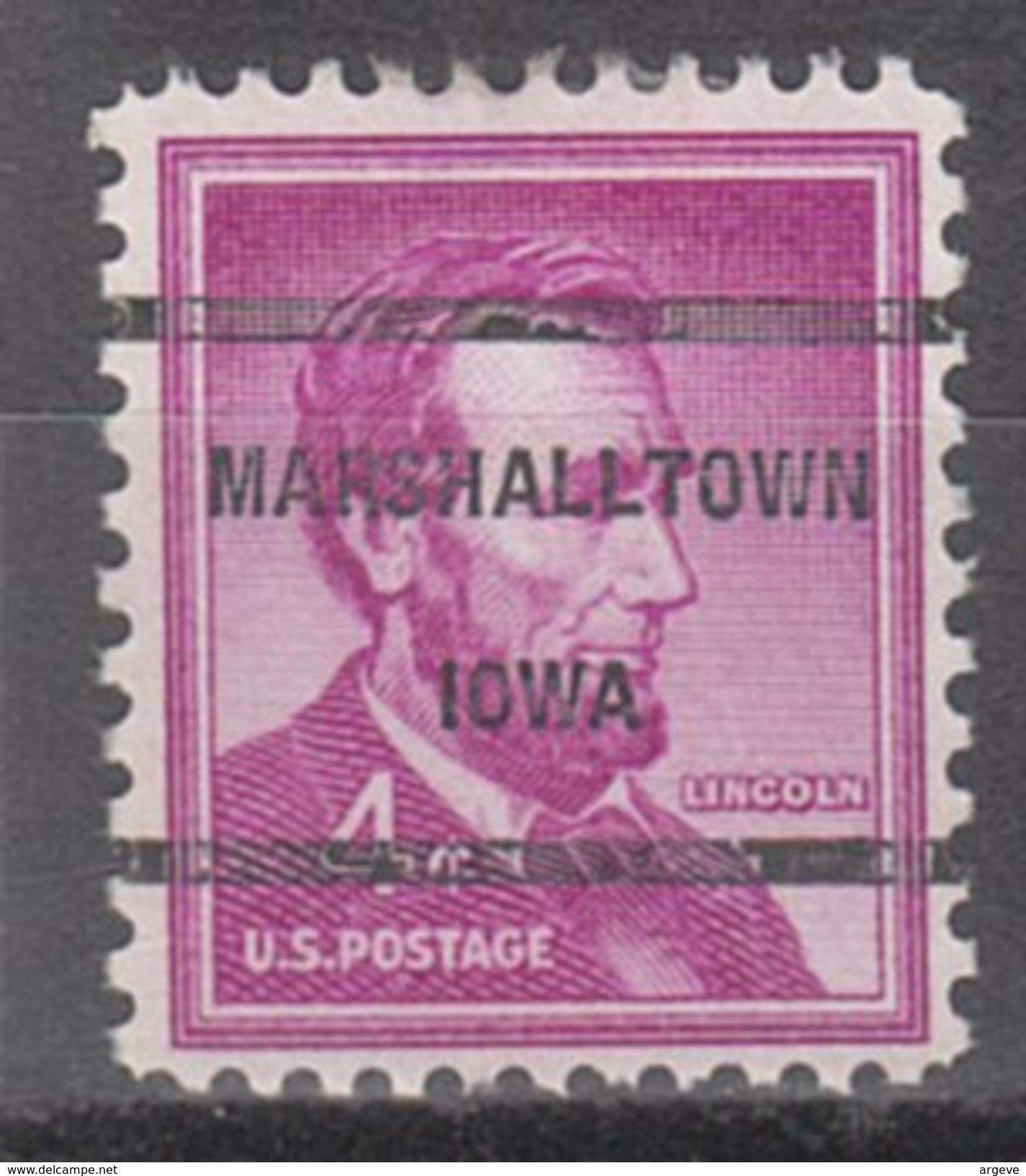 USA Precancel Vorausentwertung Preos Locals Iowa, Marshalltown 237 - Vereinigte Staaten