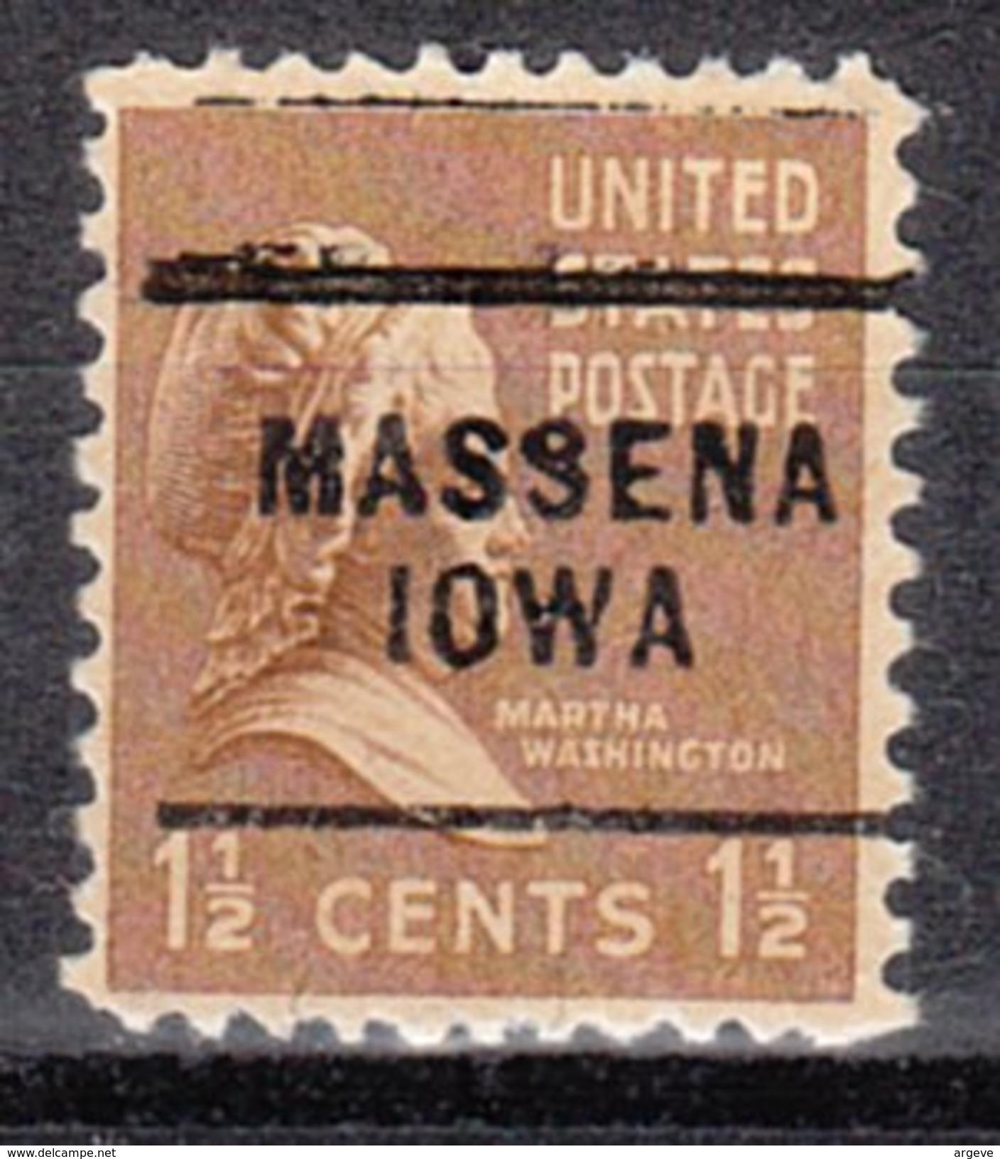 USA Precancel Vorausentwertung Preos Locals Iowa, Massena 703 - Vereinigte Staaten