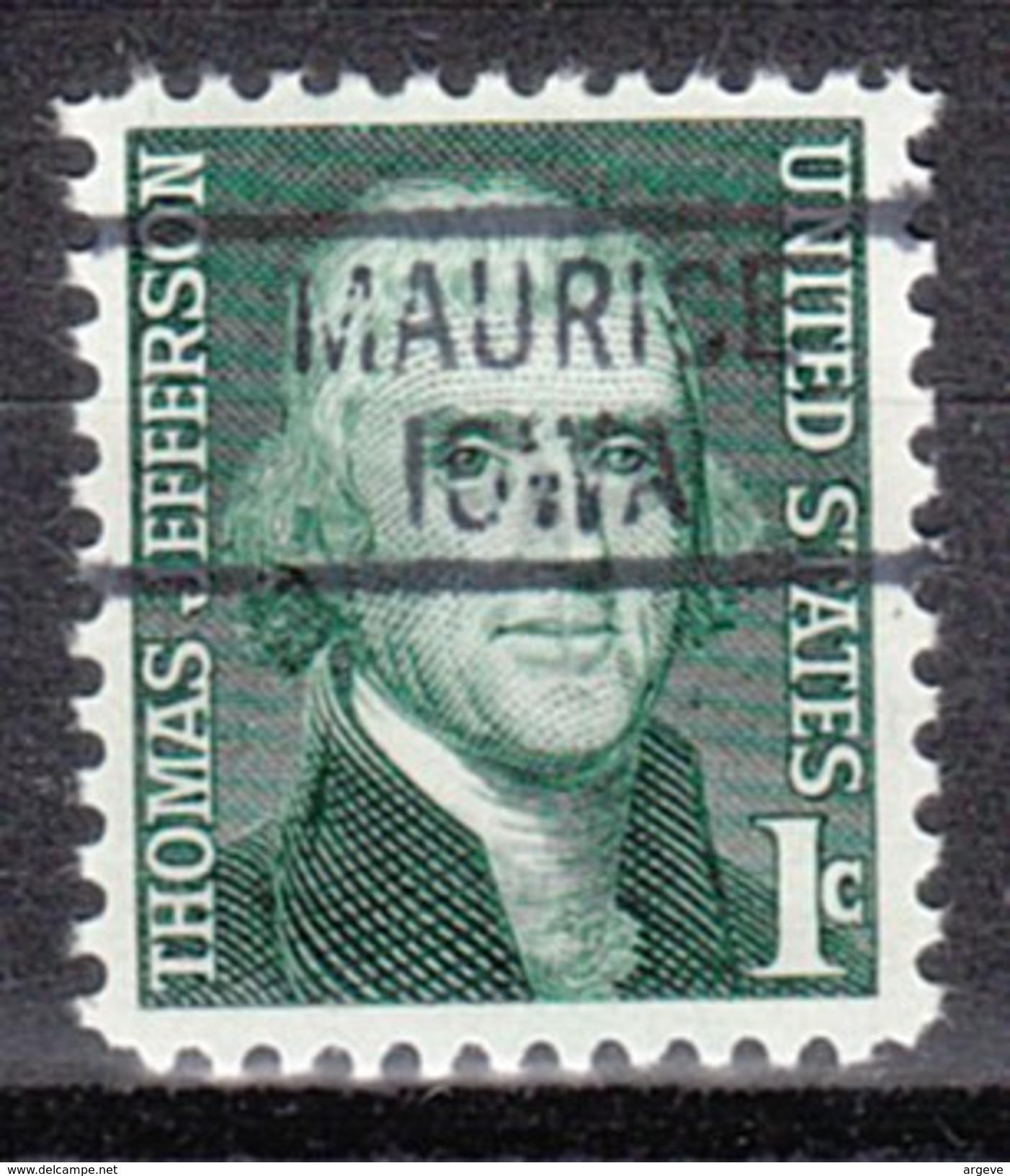 USA Precancel Vorausentwertung Preos Locals Iowa, Maurice 819 - Vereinigte Staaten