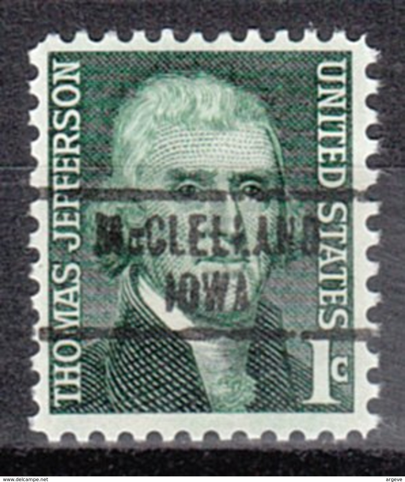 USA Precancel Vorausentwertung Preos Locals Iowa, McClelland 734 - Vereinigte Staaten