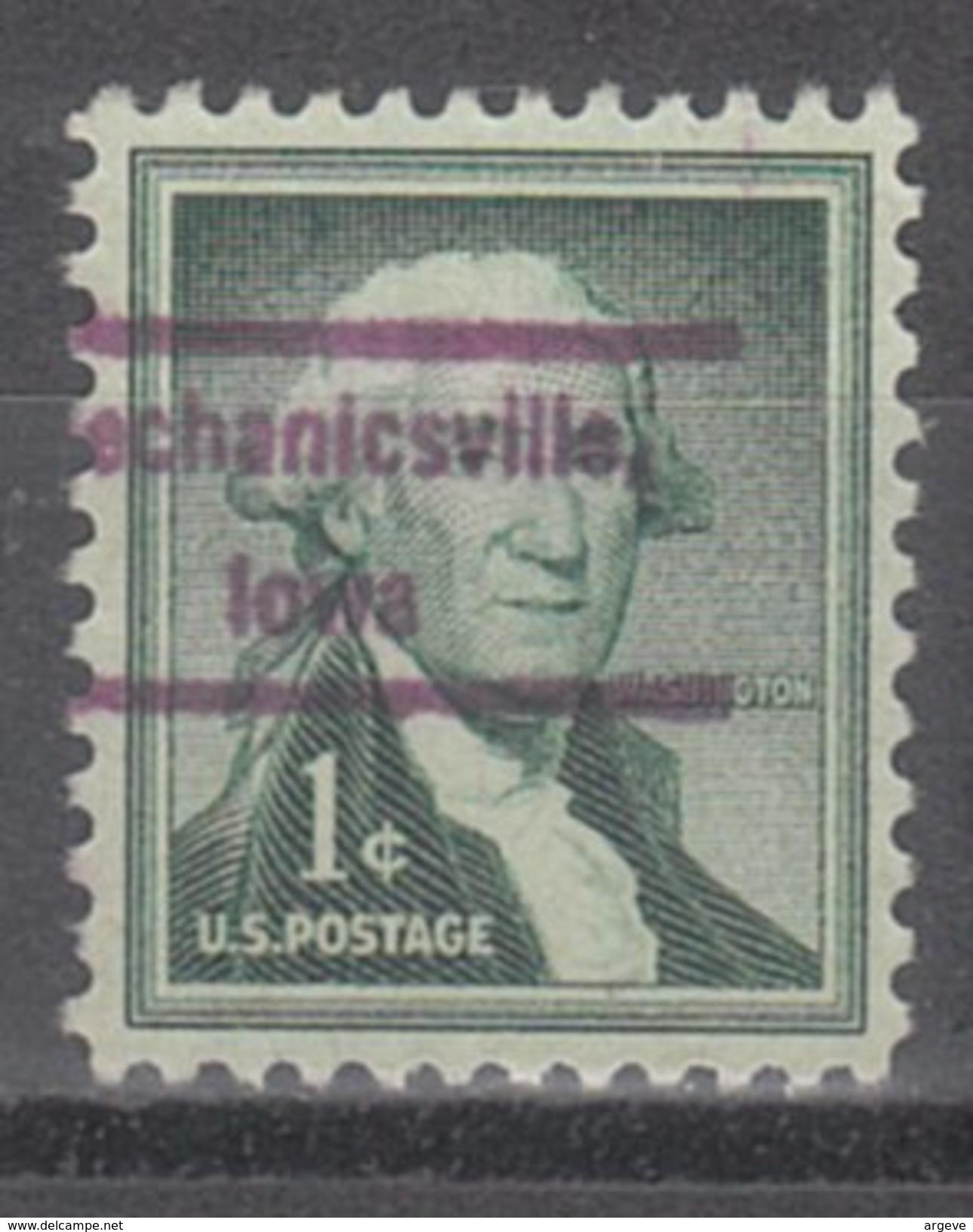 USA Precancel Vorausentwertung Preos Locals Iowa, Mechanicsville 809 - Vereinigte Staaten