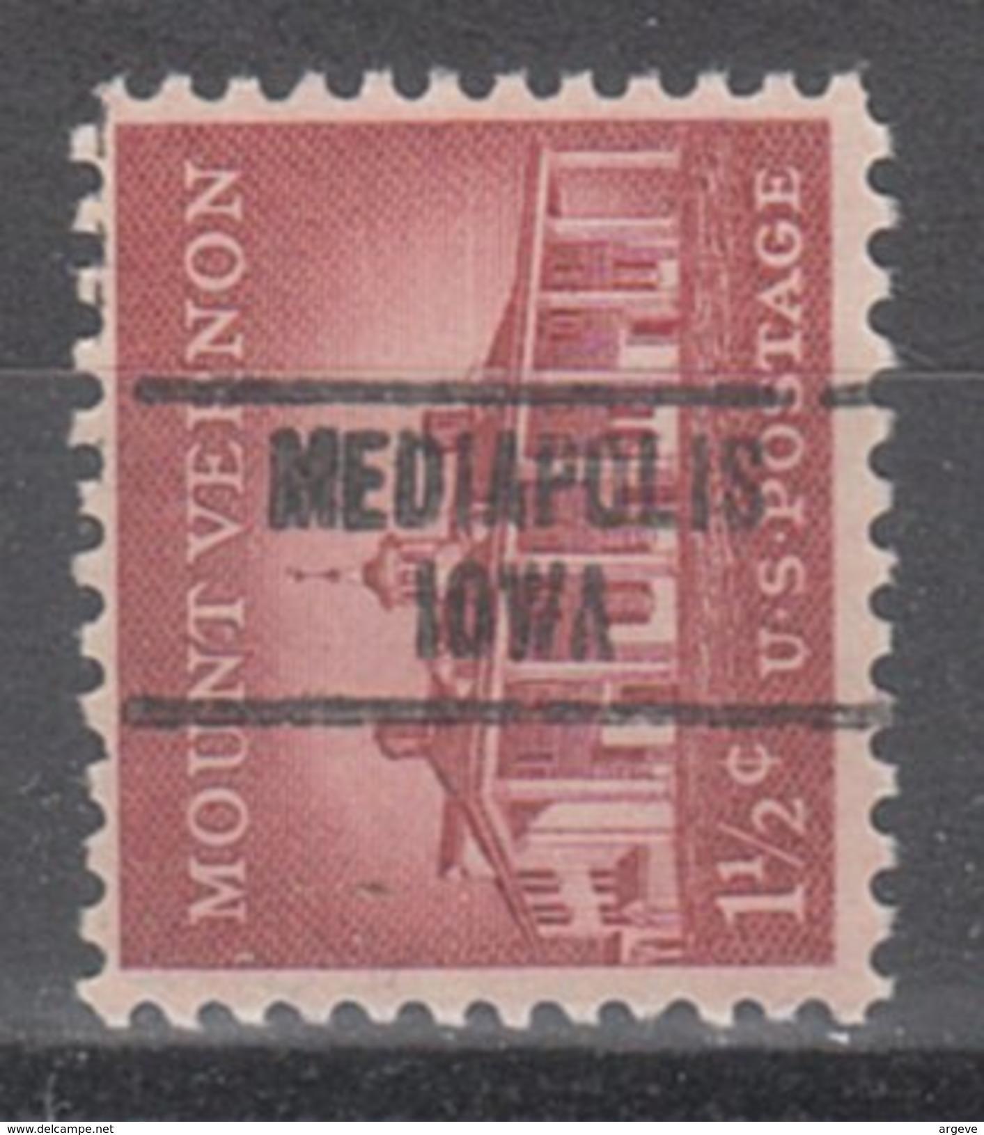 USA Precancel Vorausentwertung Preos Locals Iowa, Mediapolis 748 - Vereinigte Staaten