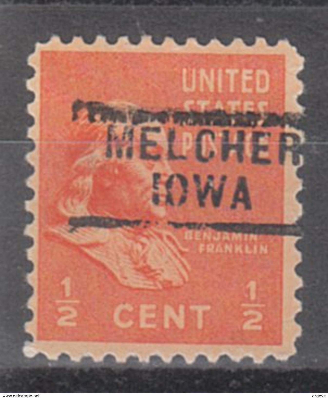USA Precancel Vorausentwertung Preos Locals Iowa, Melcher 729 - Vereinigte Staaten