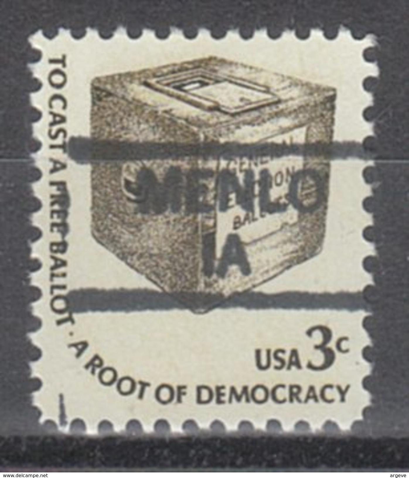 USA Precancel Vorausentwertung Preos Locals Iowa, Menlo 835 - Vereinigte Staaten