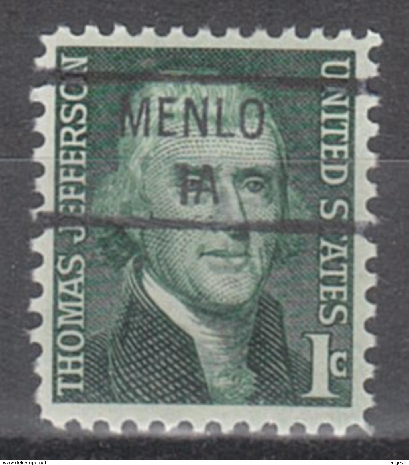 USA Precancel Vorausentwertung Preos Locals Iowa, Menlo 841 - Vereinigte Staaten