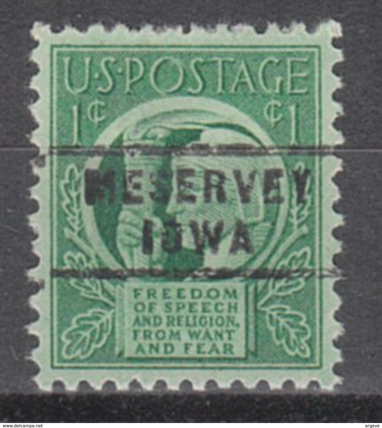 USA Precancel Vorausentwertung Preos Locals Iowa, Meservey 743 - Vereinigte Staaten