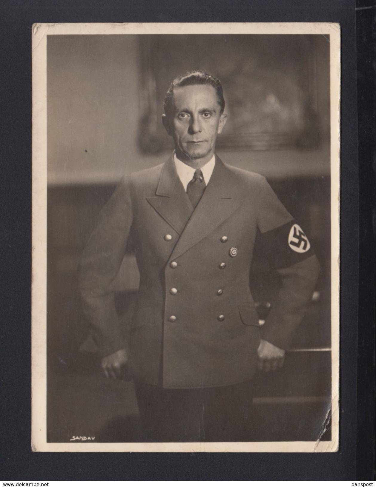 Dt. Reich AK Goebbels Albrecht & Meister Verlag - Personaggi Storici