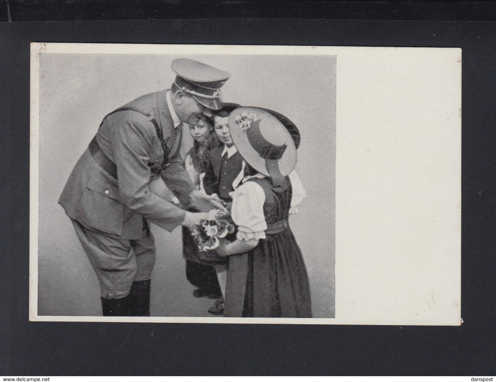 Dt. Reich AK Hitler Mit Sudeten Kindern Sonderstempel 1938 - Personaggi Storici