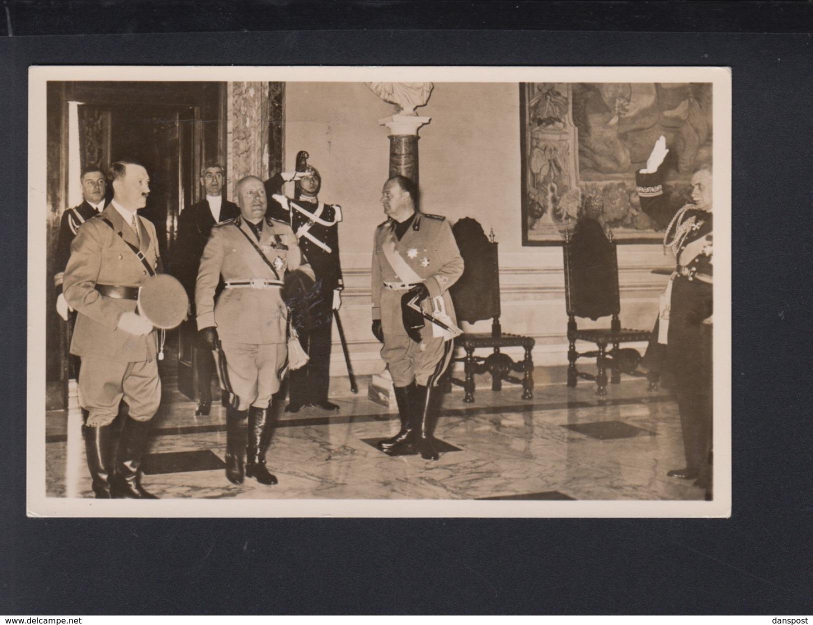 Dt. Reich AK Hitler Und Mussolini Im Quirinal Italien Italia - Personaggi Storici