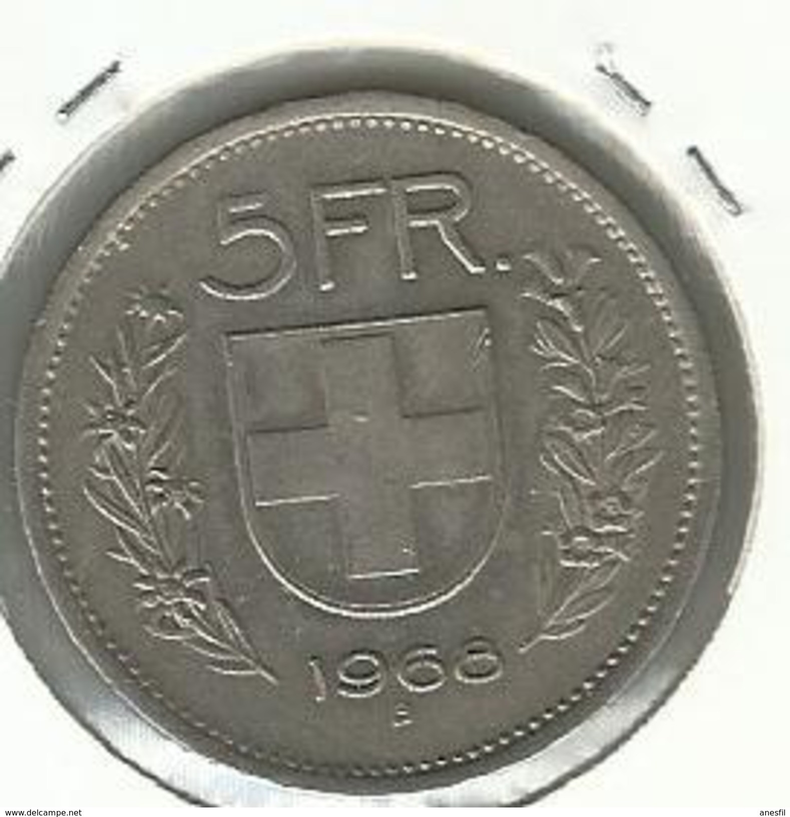 Suiza_1968_5 Francos. KM 40a 1 - Suiza