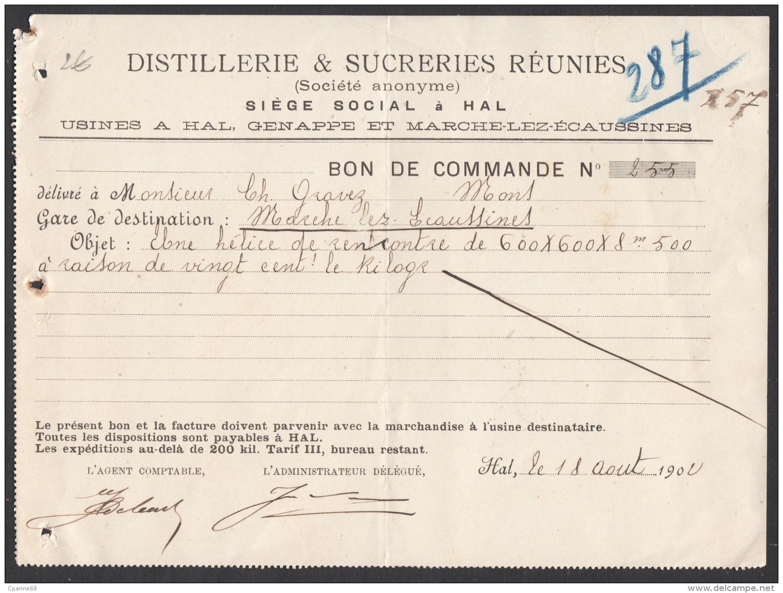 Distillerie & Sucreries Réunies - Hal, Genappe Et Marche-lez-Ecaussinnes - 1902 - België