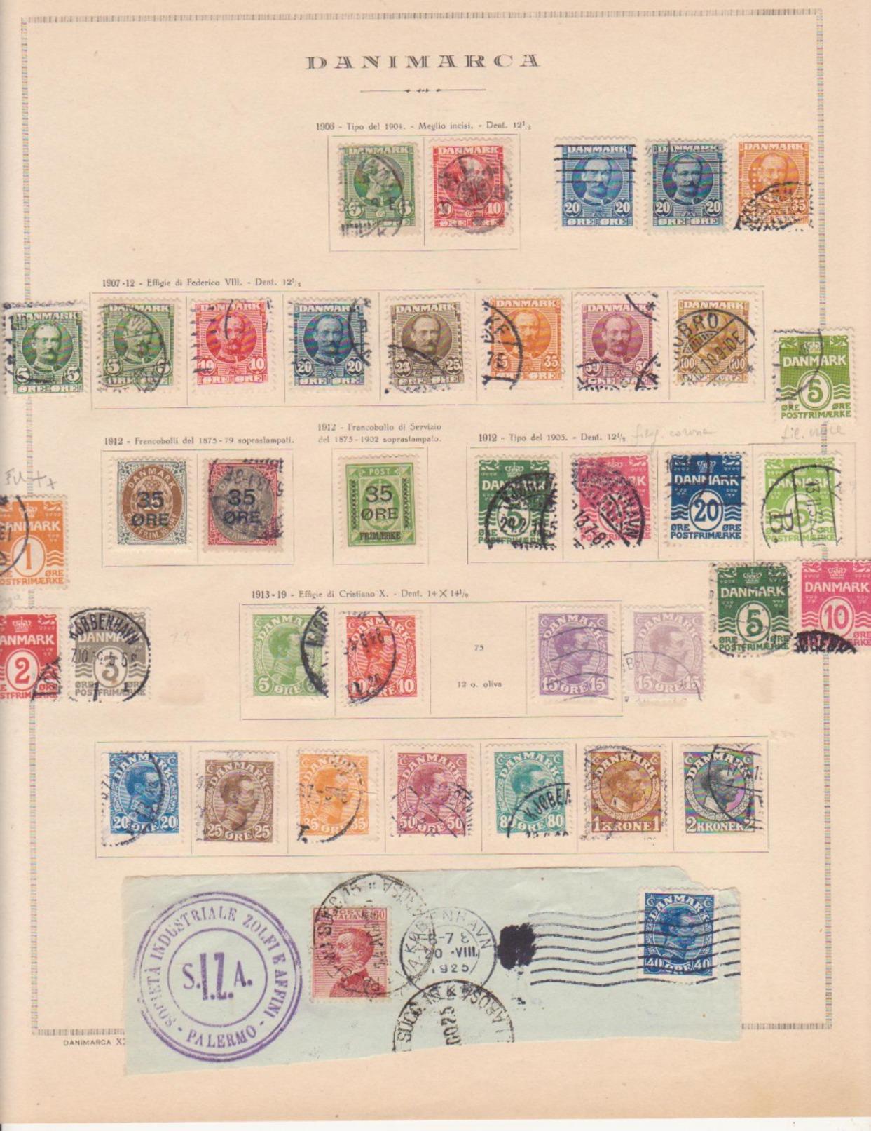 Danimarca Danmark Denmark  Nice Collection  Album  Pages   SEE SCAN - Danimarca